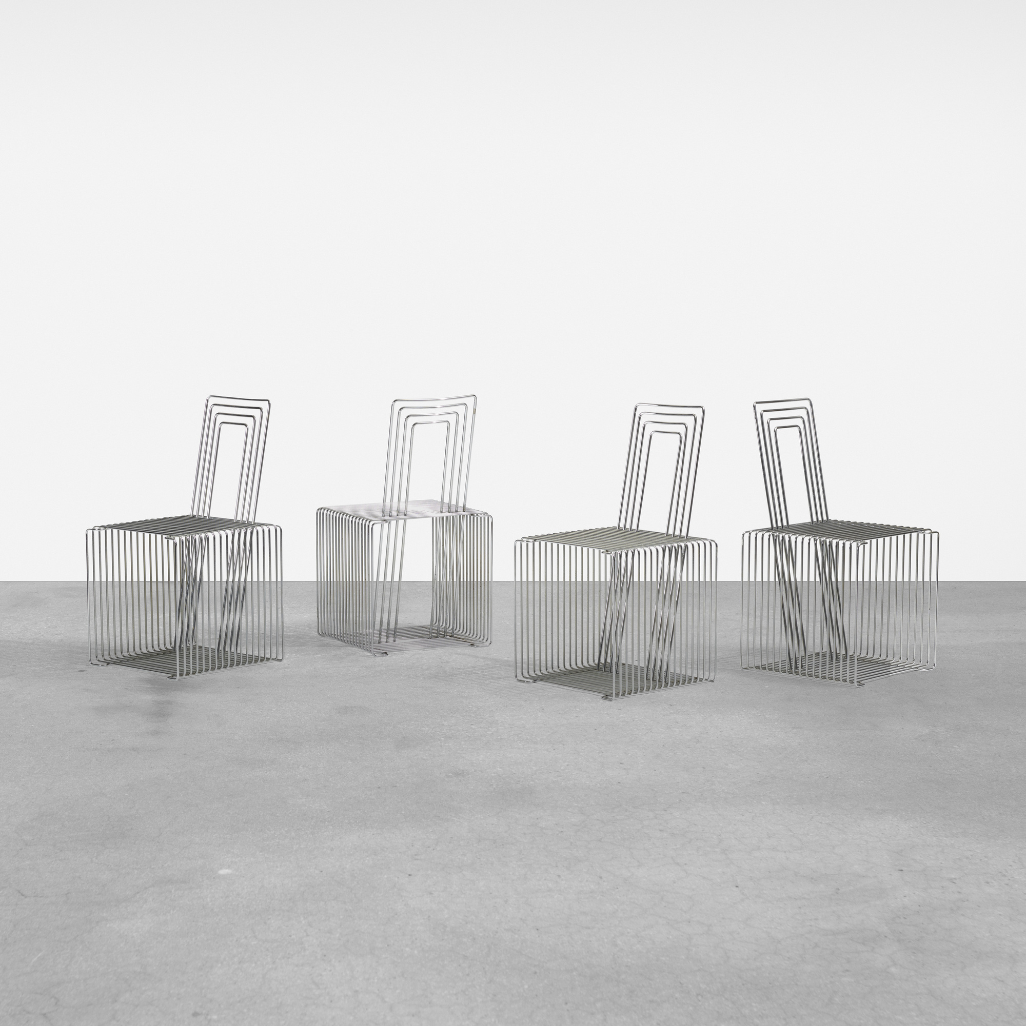 269: Verner Panton / SteelStyle chairs, set of four (1 of 3)