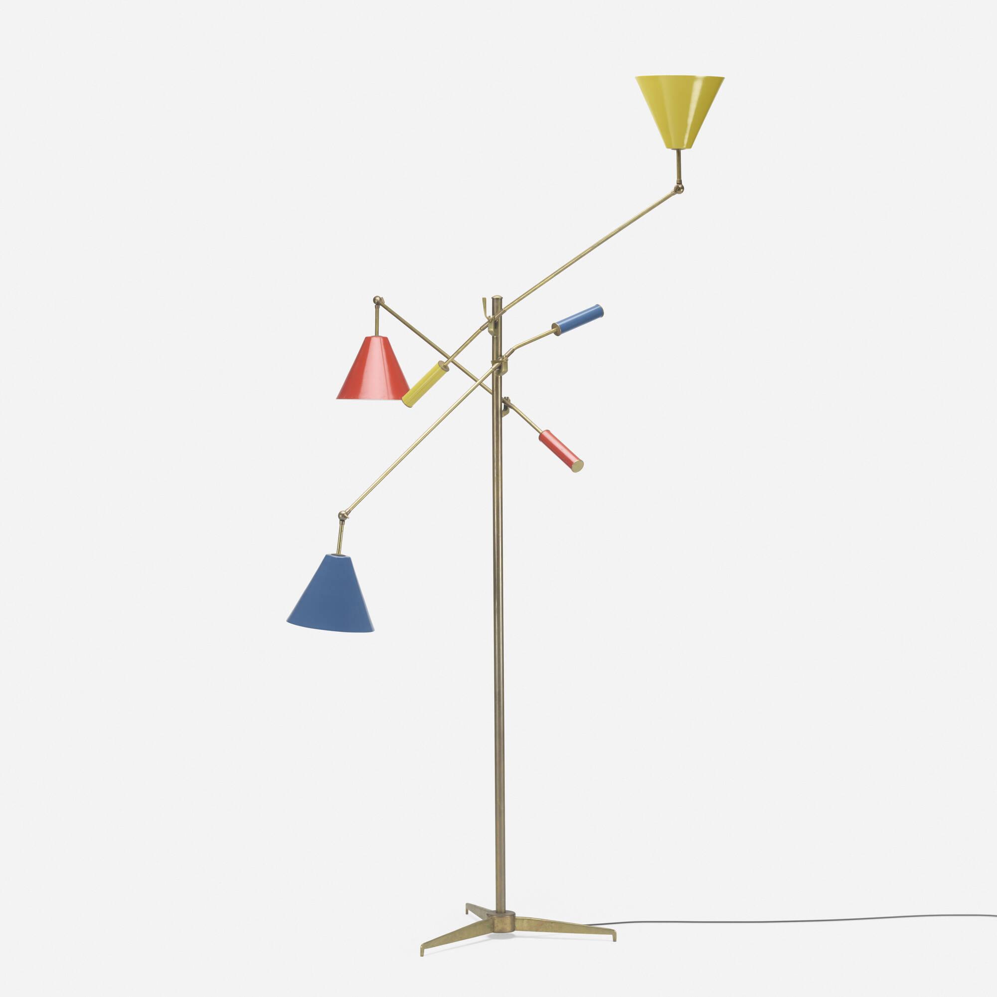 269: Angelo Lelii / three-arm floor lamp (1 of 2)