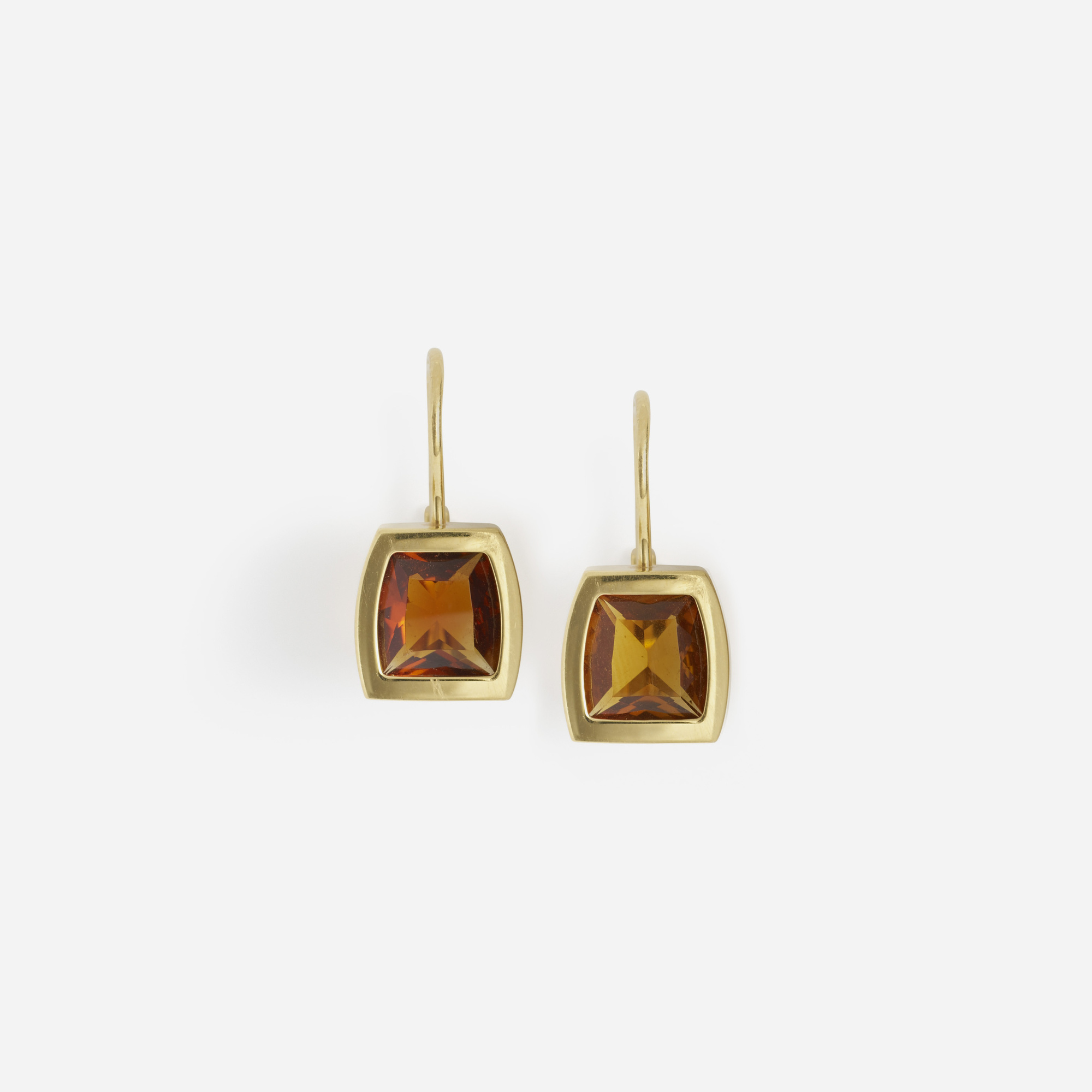 269: Cartier / A pair of gold and citrine earrings (1 of 2)