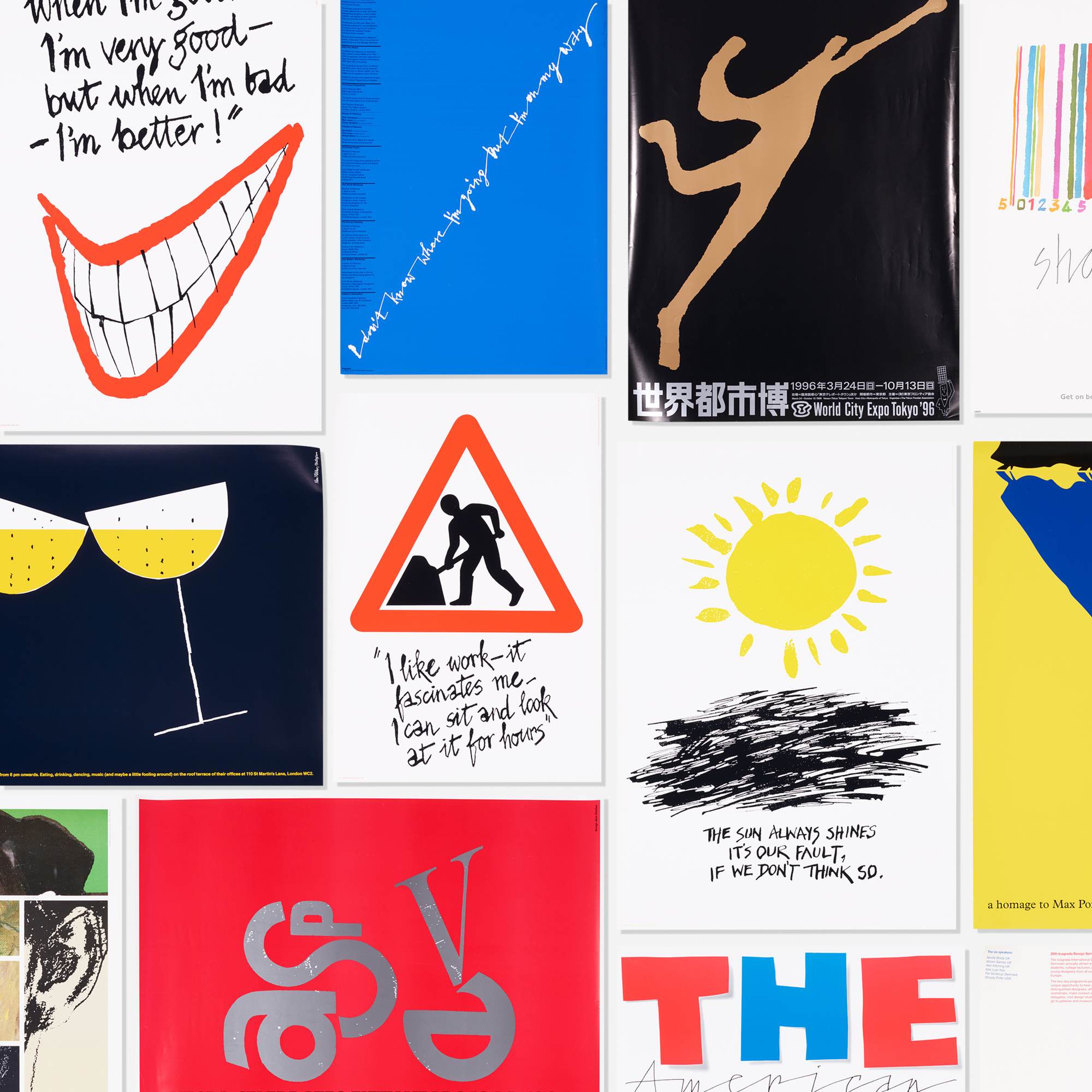 269: Alan Fletcher / collection of thirty-five graphic design posters (1 of 1)
