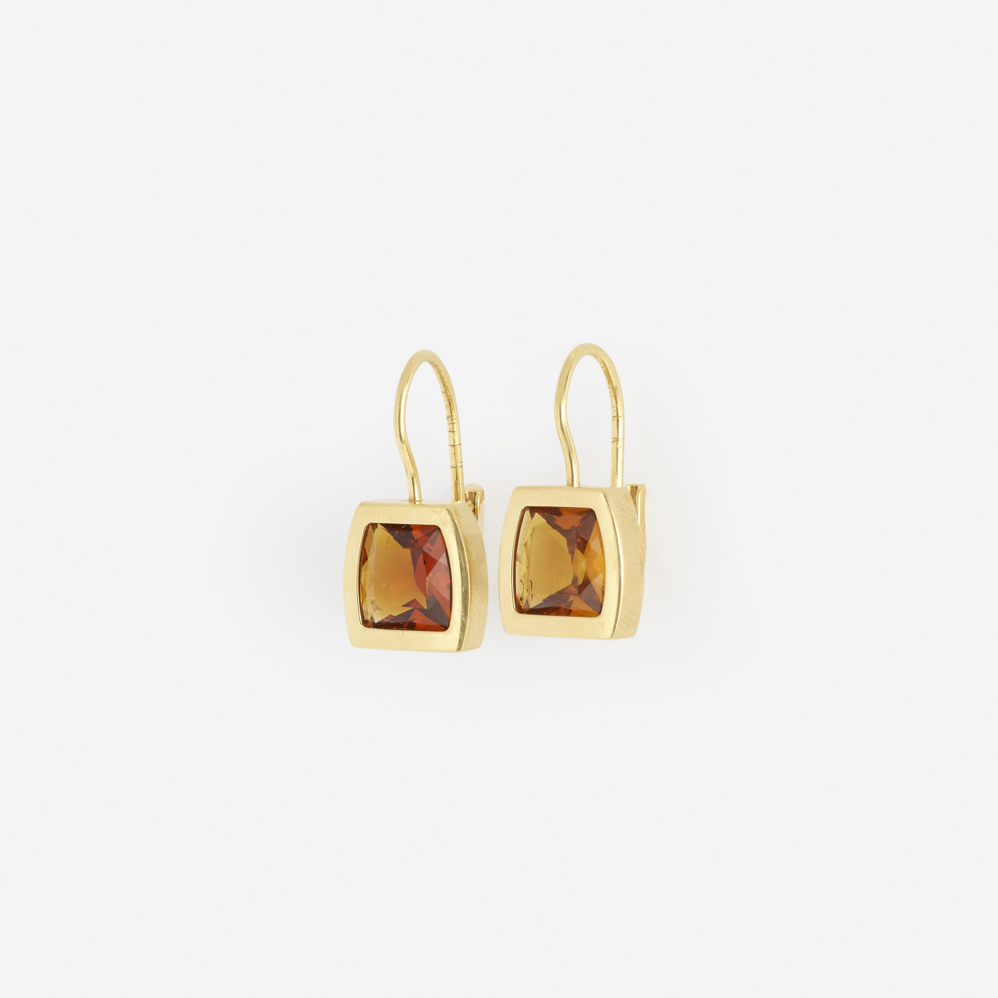 269: Cartier / A pair of gold and citrine earrings (2 of 2)
