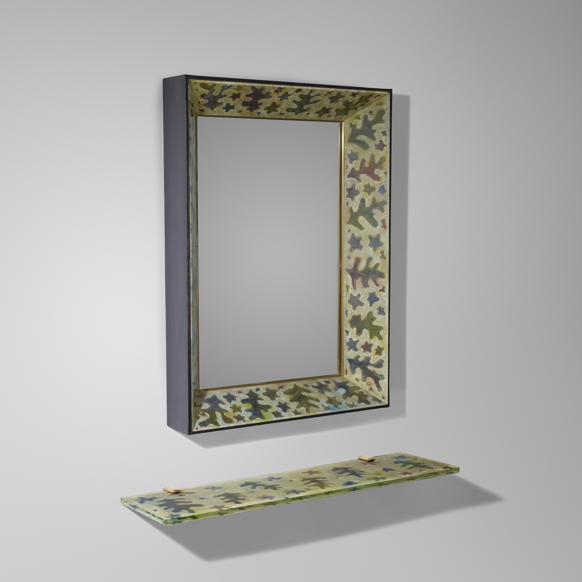 26: Gio Ponti and Erwin Walter Burger / Rare mirror with console (1 of 4)