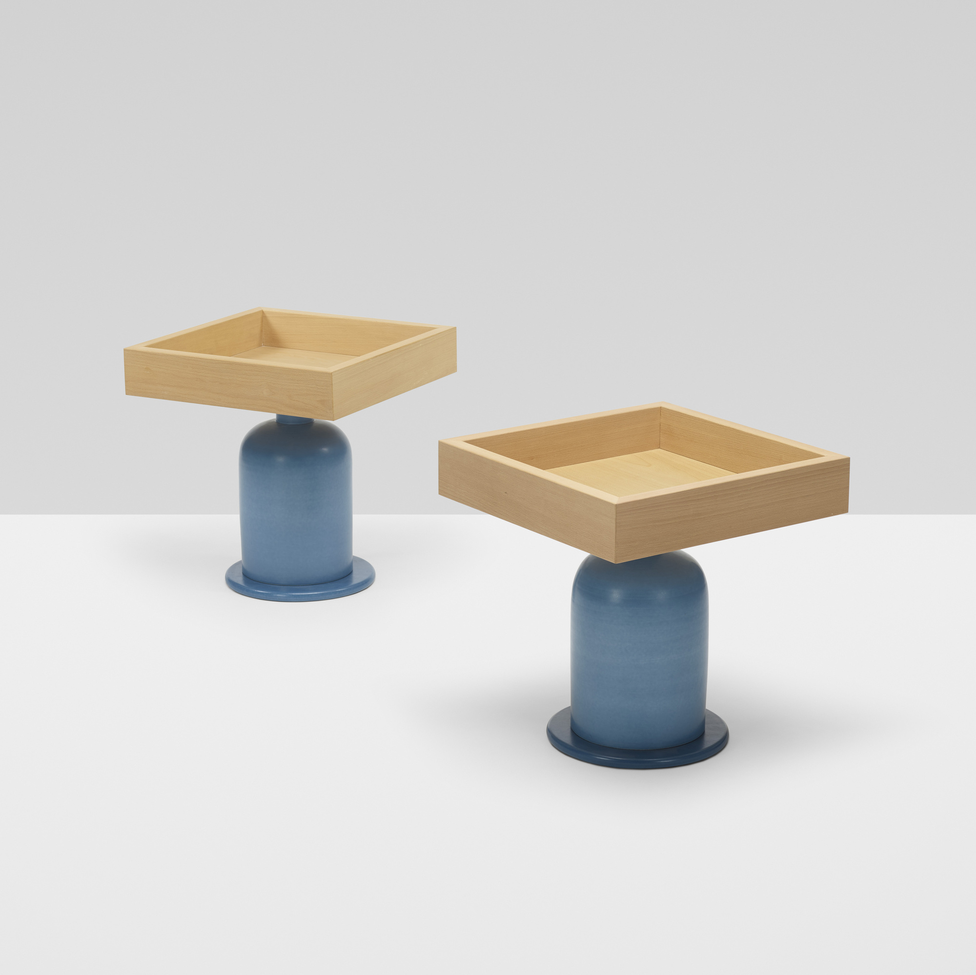 270: Ettore Sottsass / occasional tables, pair (1 of 5)