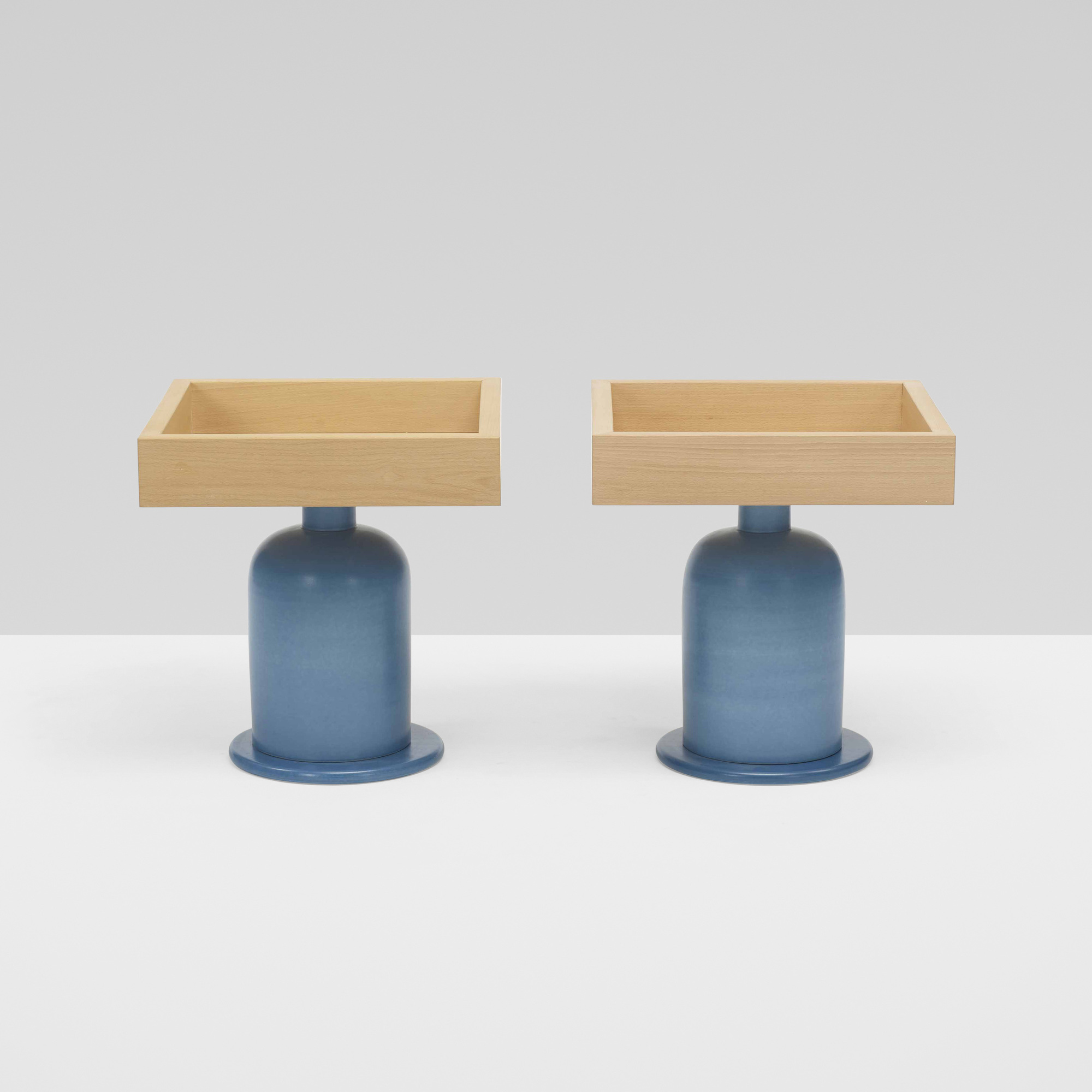 270: Ettore Sottsass / occasional tables, pair (2 of 5)