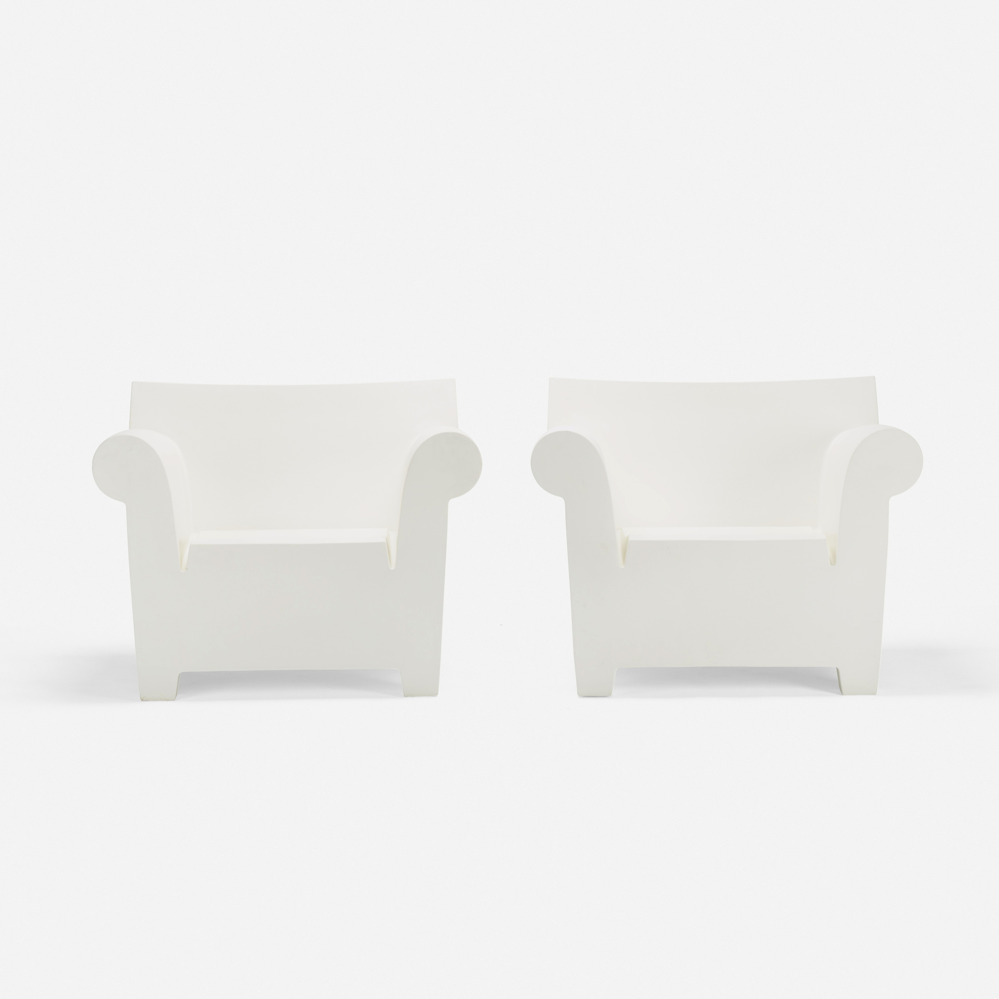 ... 270: Philippe Starck / Bubble Club Armchairs, Pair (2 Of 3)