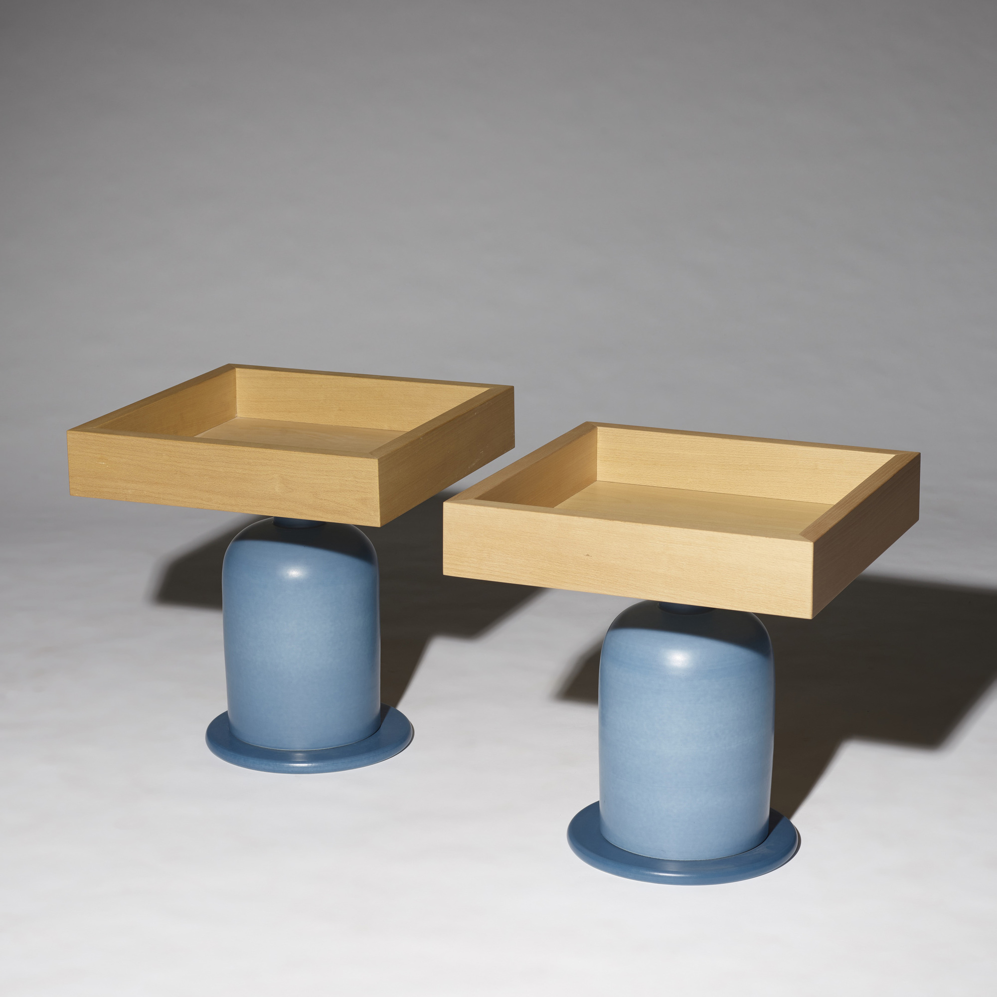 270: Ettore Sottsass / occasional tables, pair (3 of 5)