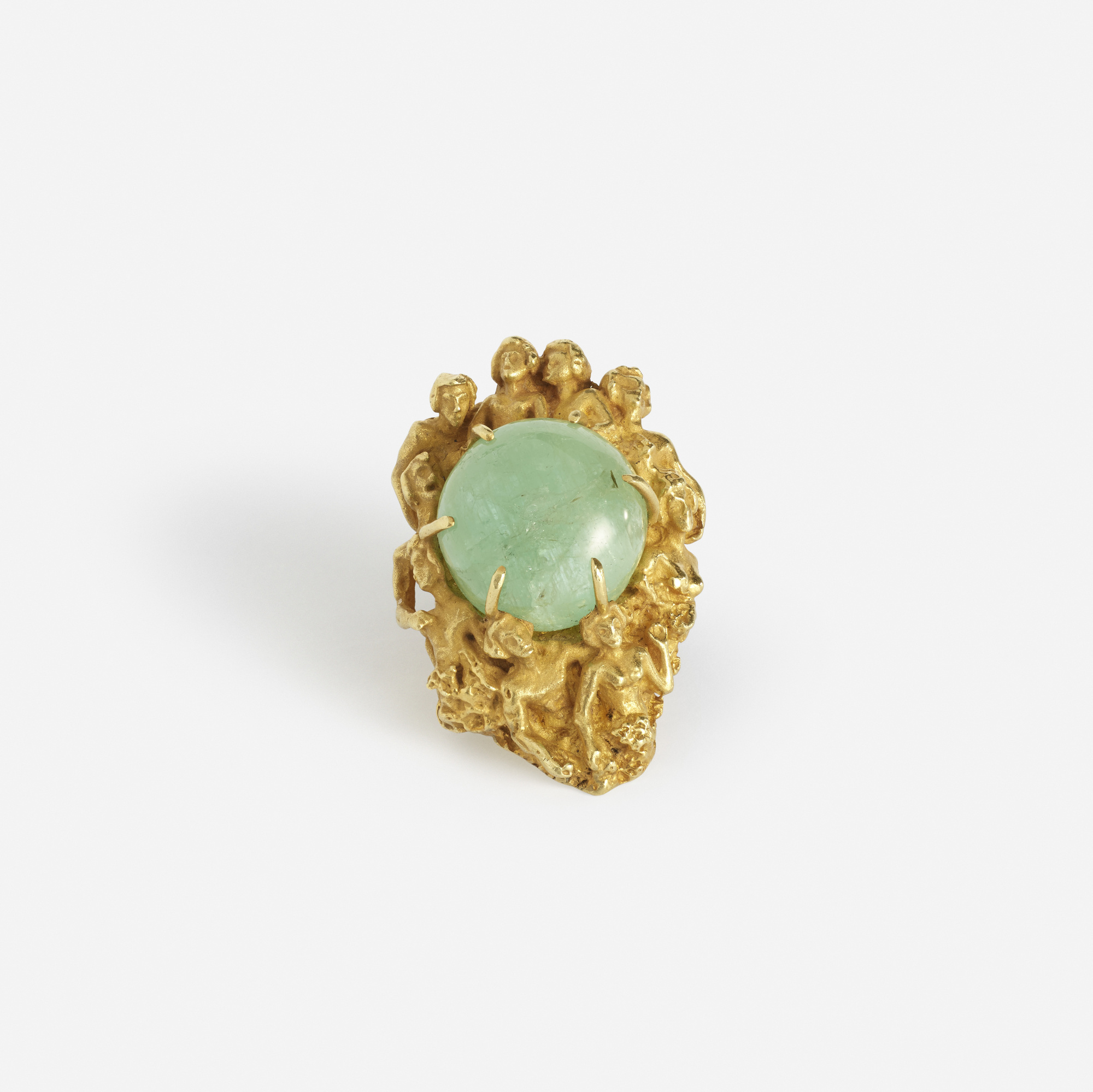 274: Eric de Kolb / A gold and emerald ring (1 of 2)