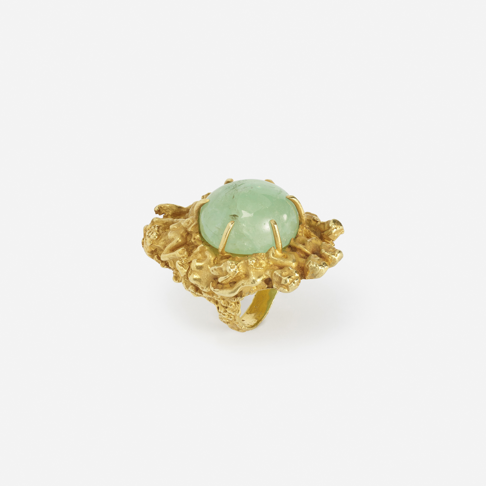 274: Eric de Kolb / A gold and emerald ring (2 of 2)