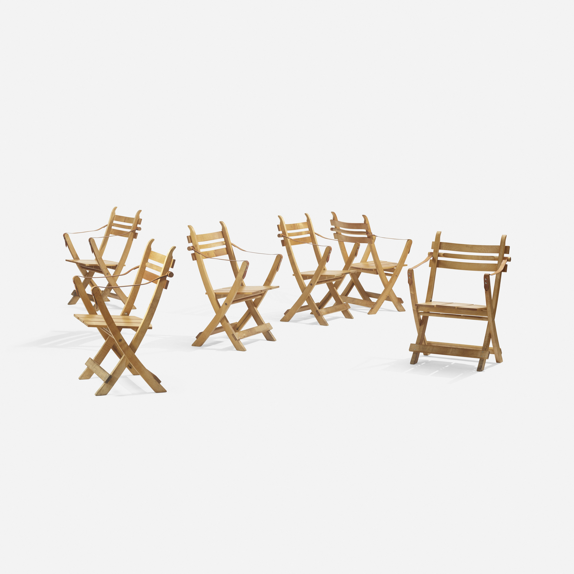275: Hans J. Wegner / folding chairs, set of six (2 of 3)