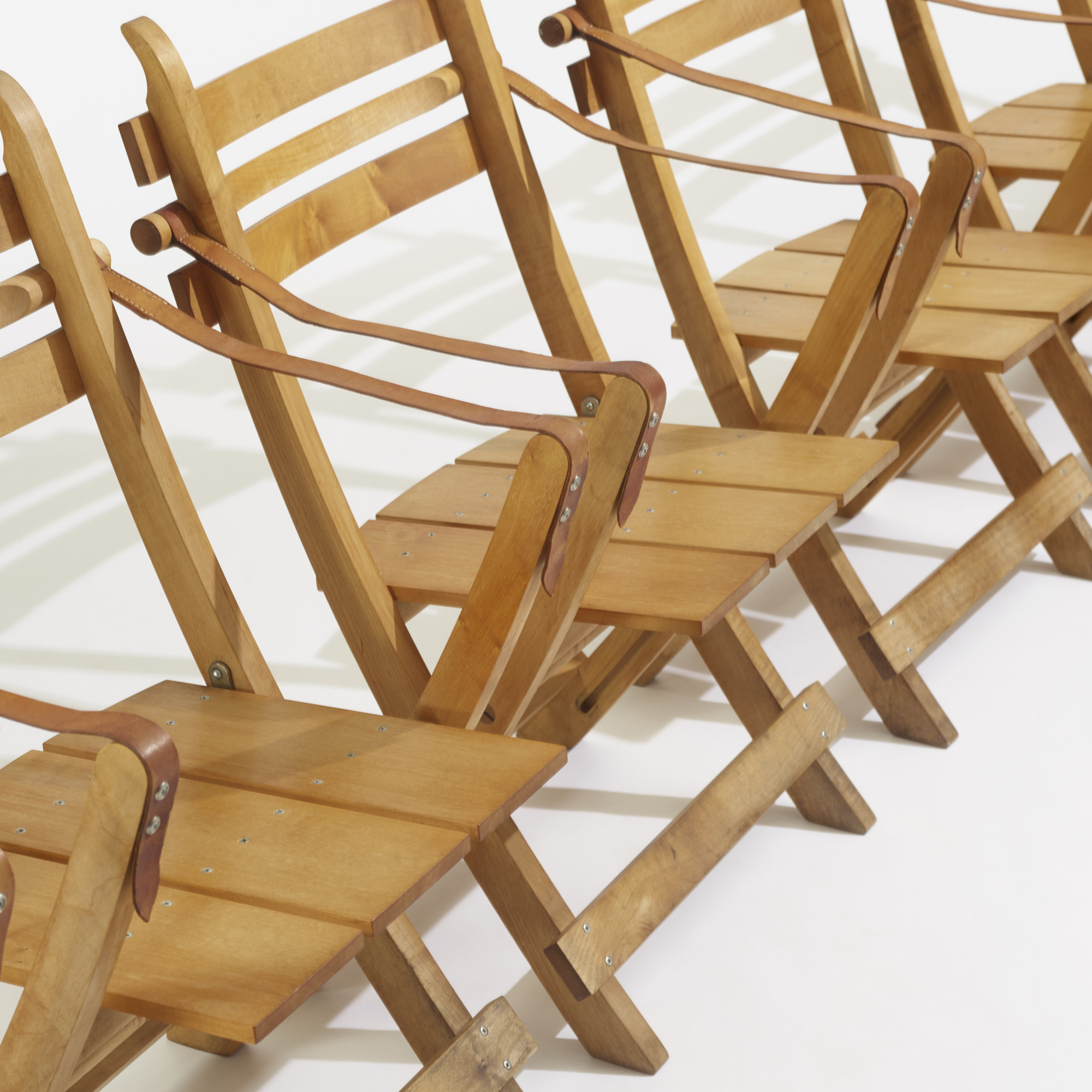 275: Hans J. Wegner / folding chairs, set of six (3 of 3)