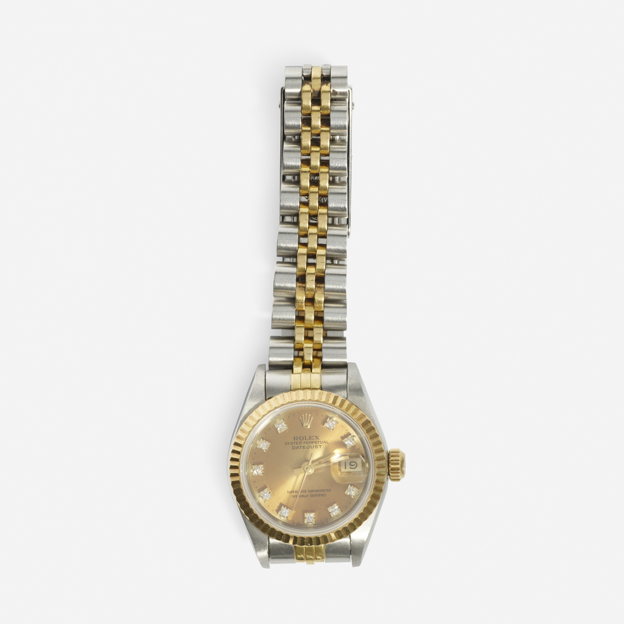 276: Rolex / A gold and diamond ladies Datejust watch (1 of 1)
