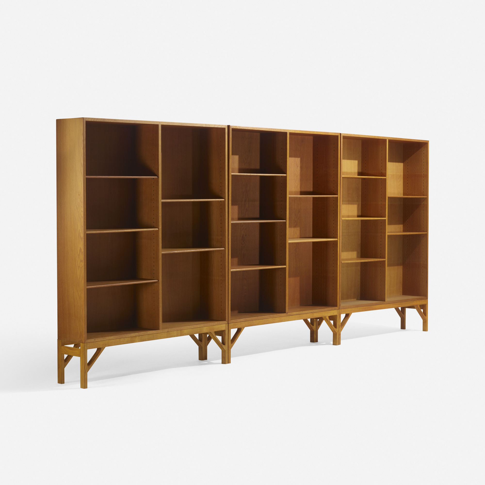 278: Børge Mogensen / bookcases, set of three (1 of 2)