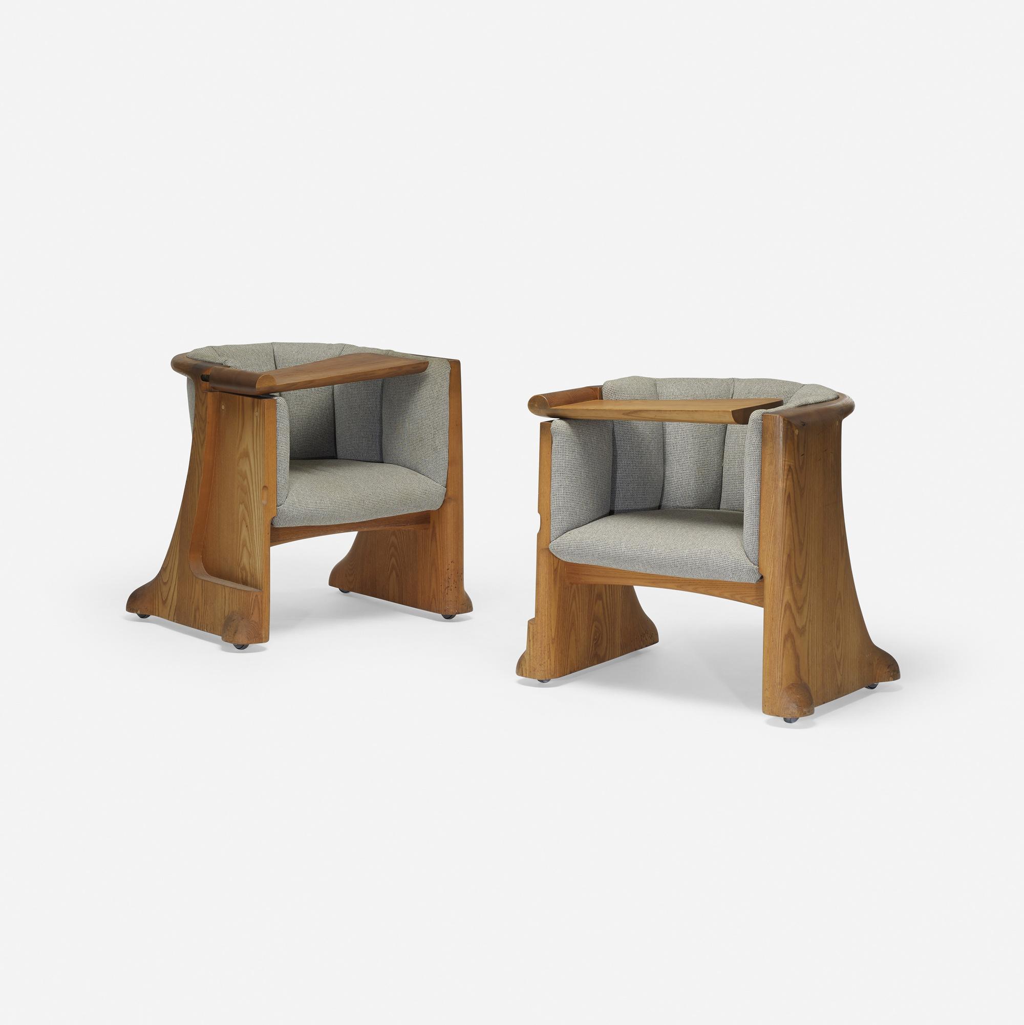 278: Wendell Castle / Gannett Boardroom Chairs, Pair (2 Of 5) ...