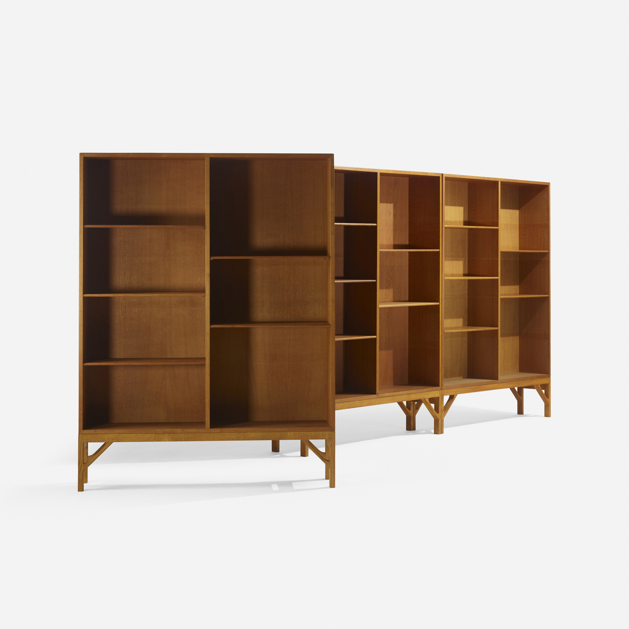 278: Børge Mogensen / bookcases, set of three (2 of 2)