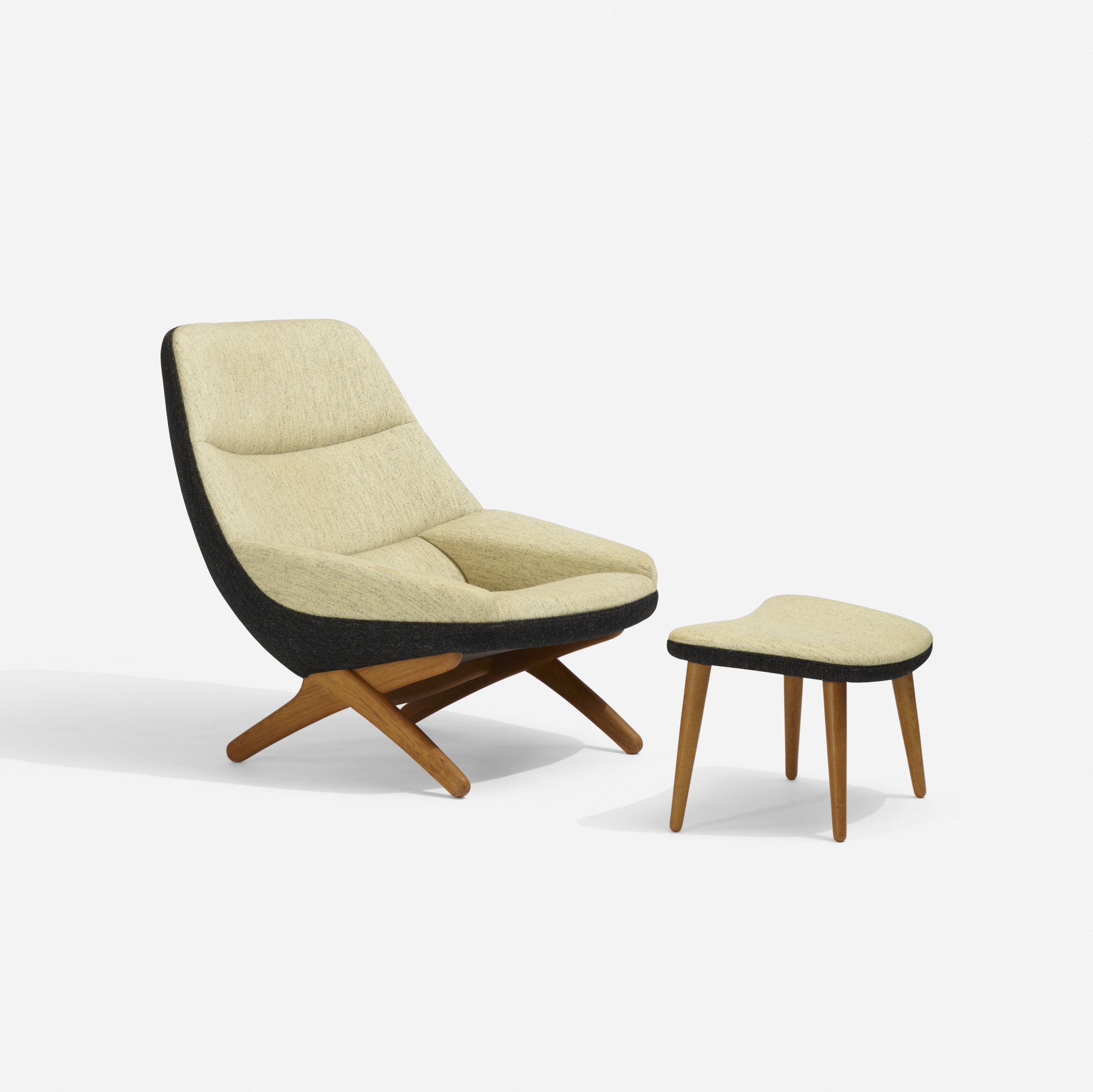 279: Illum Wikkelsø / lounge chair, model 91 and ottoman (1 of 3)