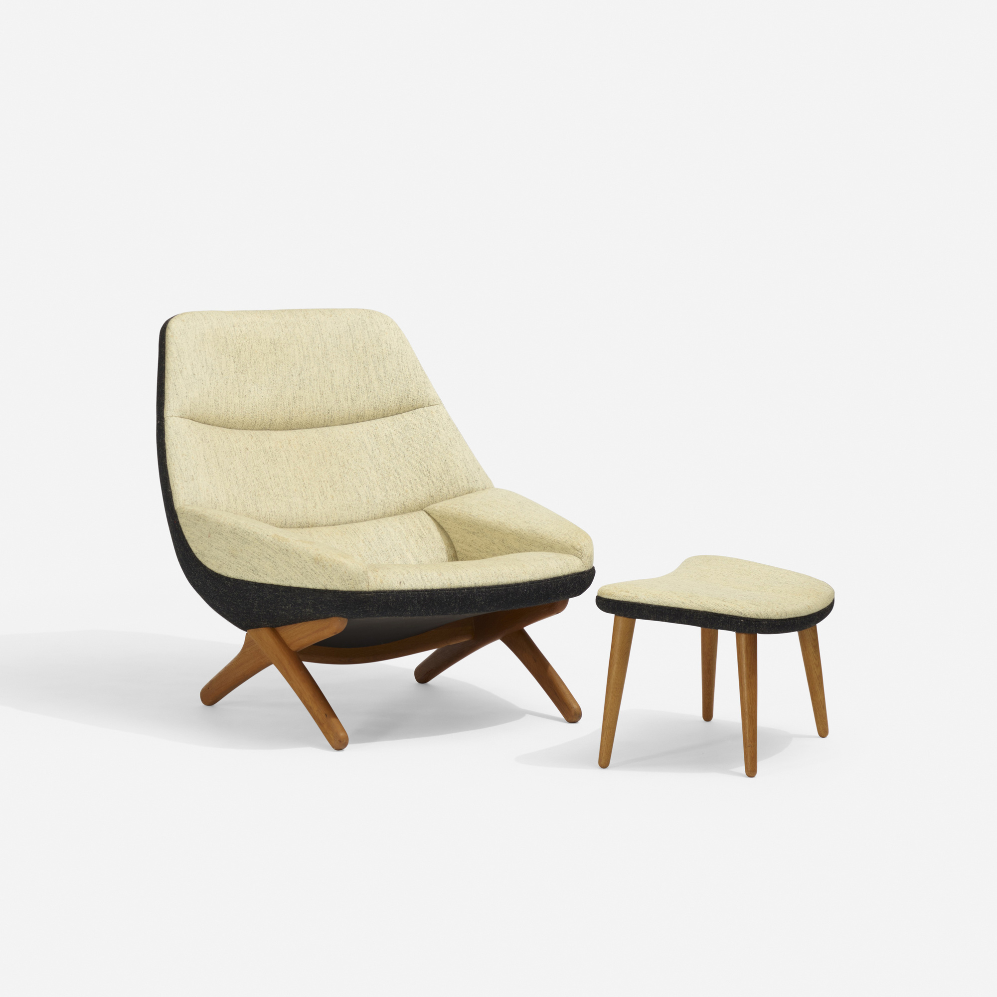 279: Illum Wikkelsø / lounge chair, model 91 and ottoman (2 of 3)