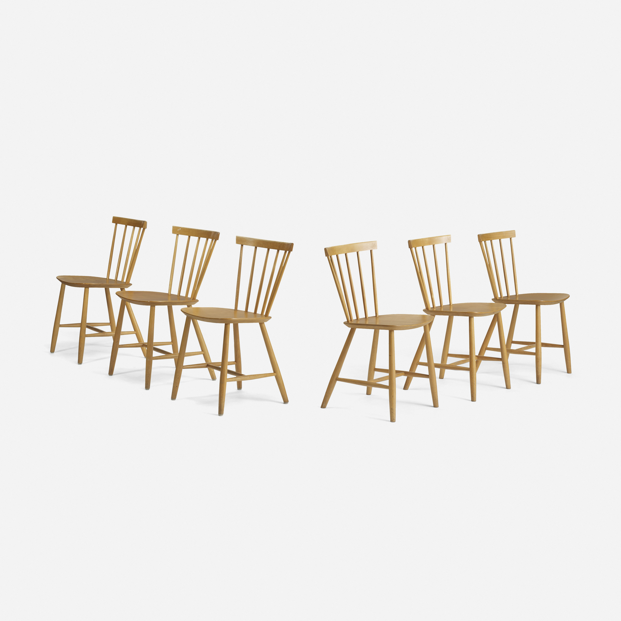 279: Poul Volther / dining chairs model J46, set of six (2 of 4)