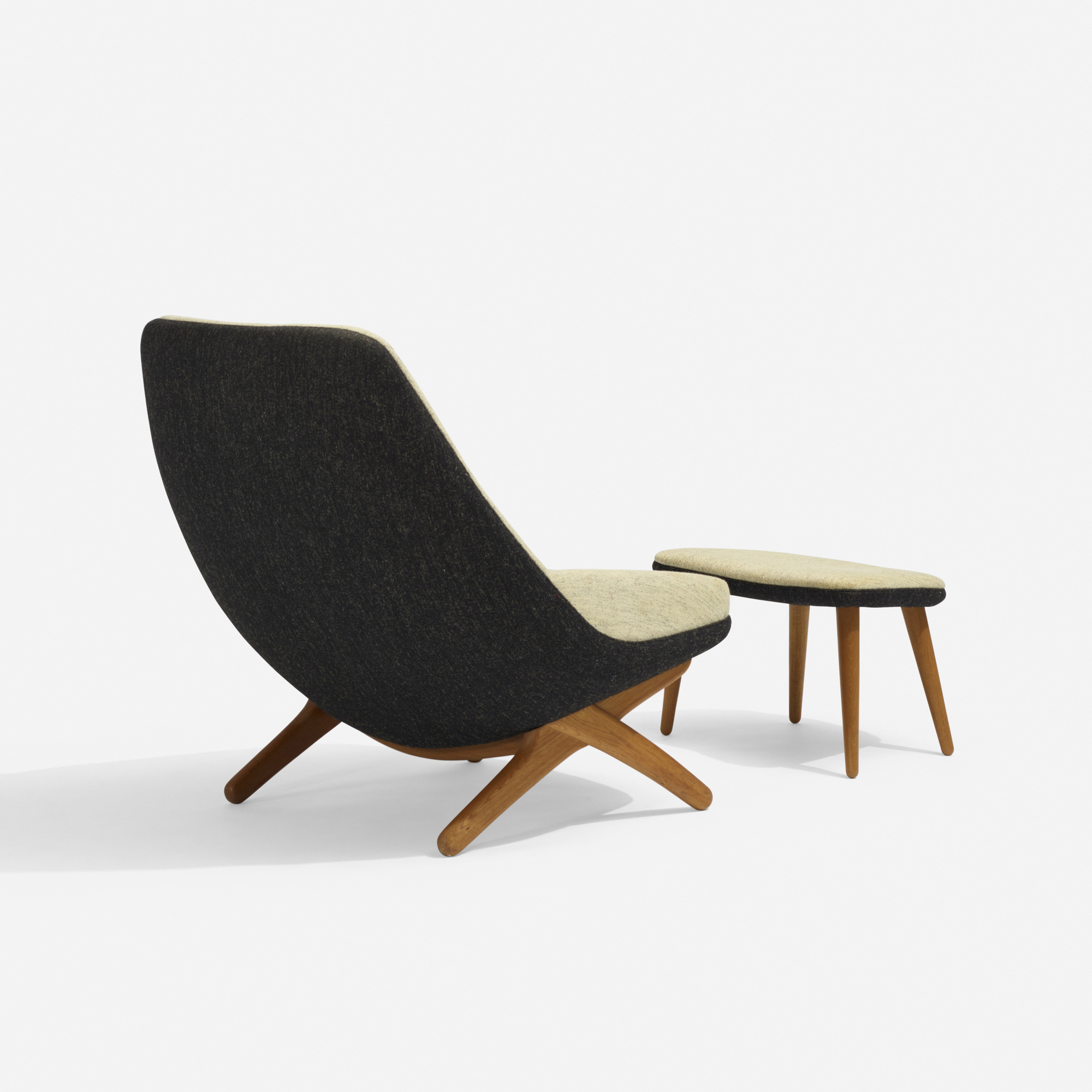 279: Illum Wikkelsø / lounge chair, model 91 and ottoman (3 of 3)