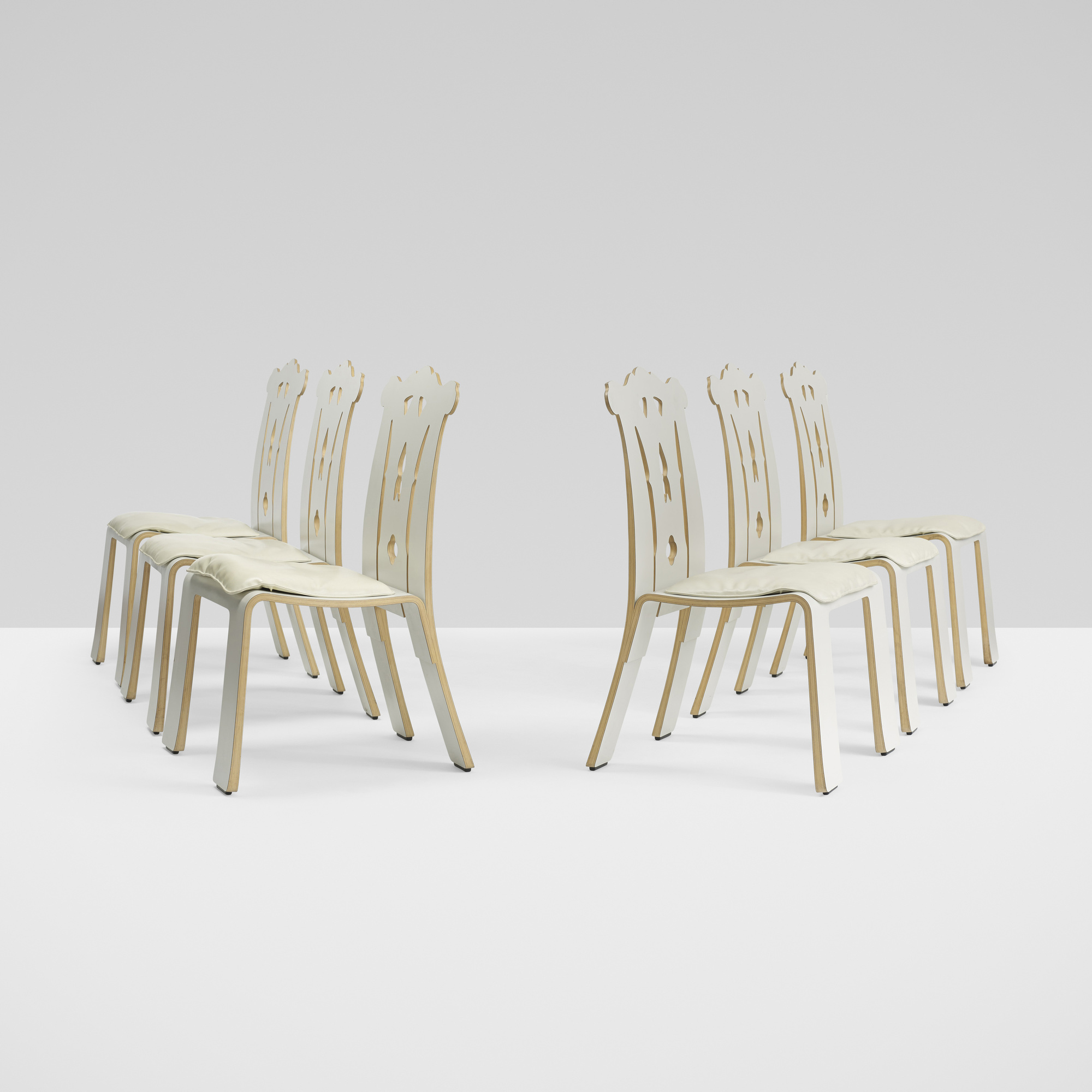 281: Robert Venturi / Chippendale chairs, set of six (1 of 4)