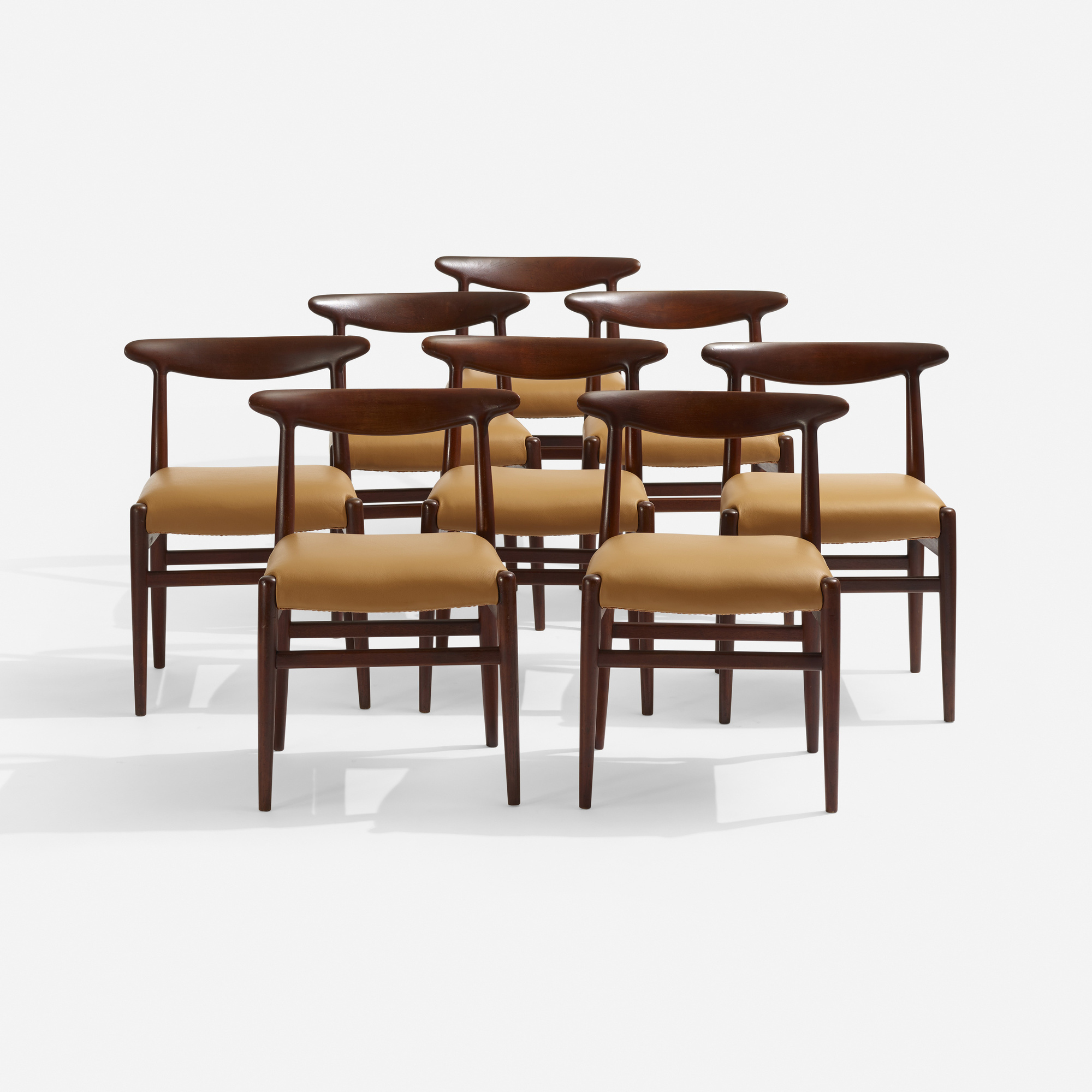 281: Hans J. Wegner / dining chairs, set of eight (1 of 3)