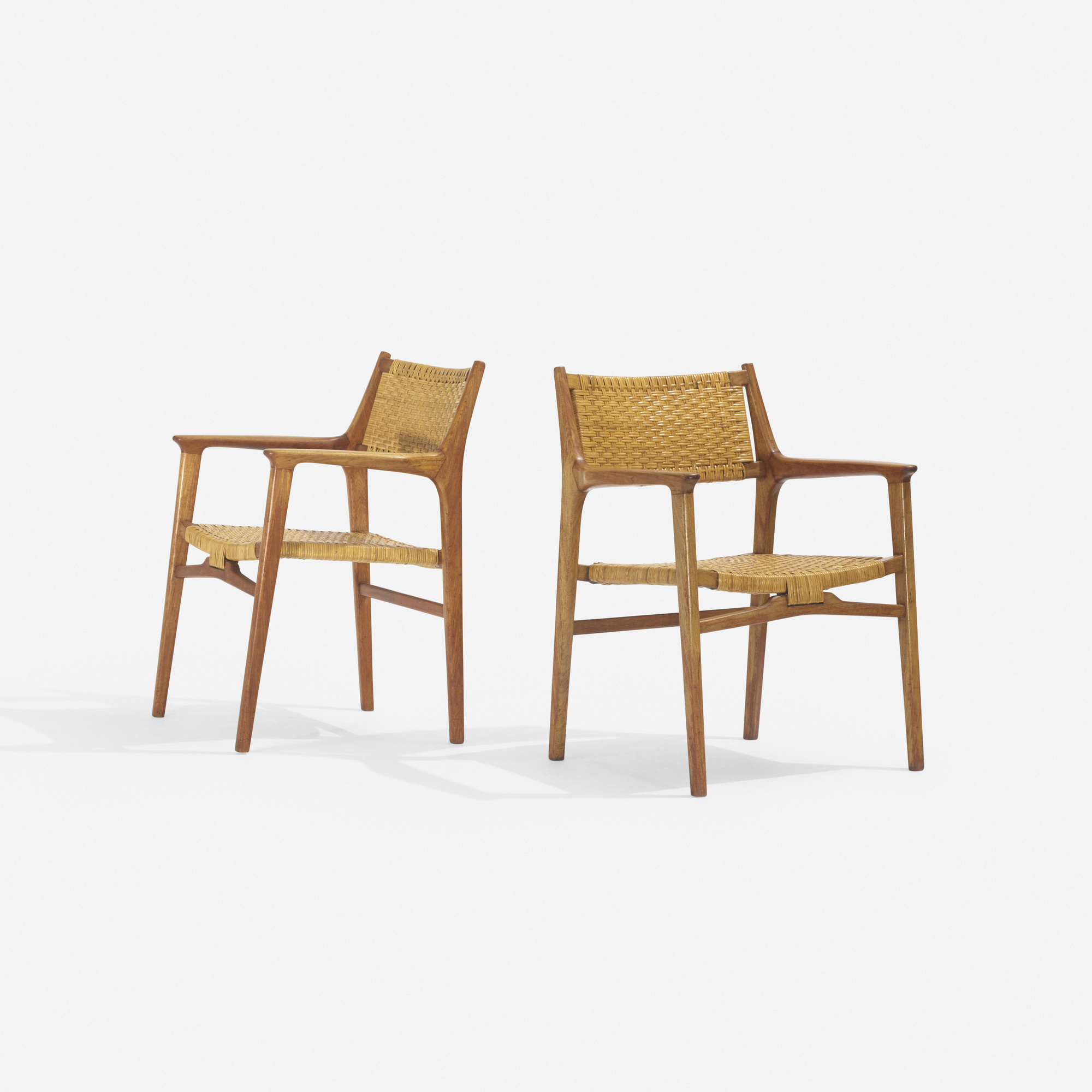 281: Hans J. Wegner / rare lounge chairs, pair (2 of 3)