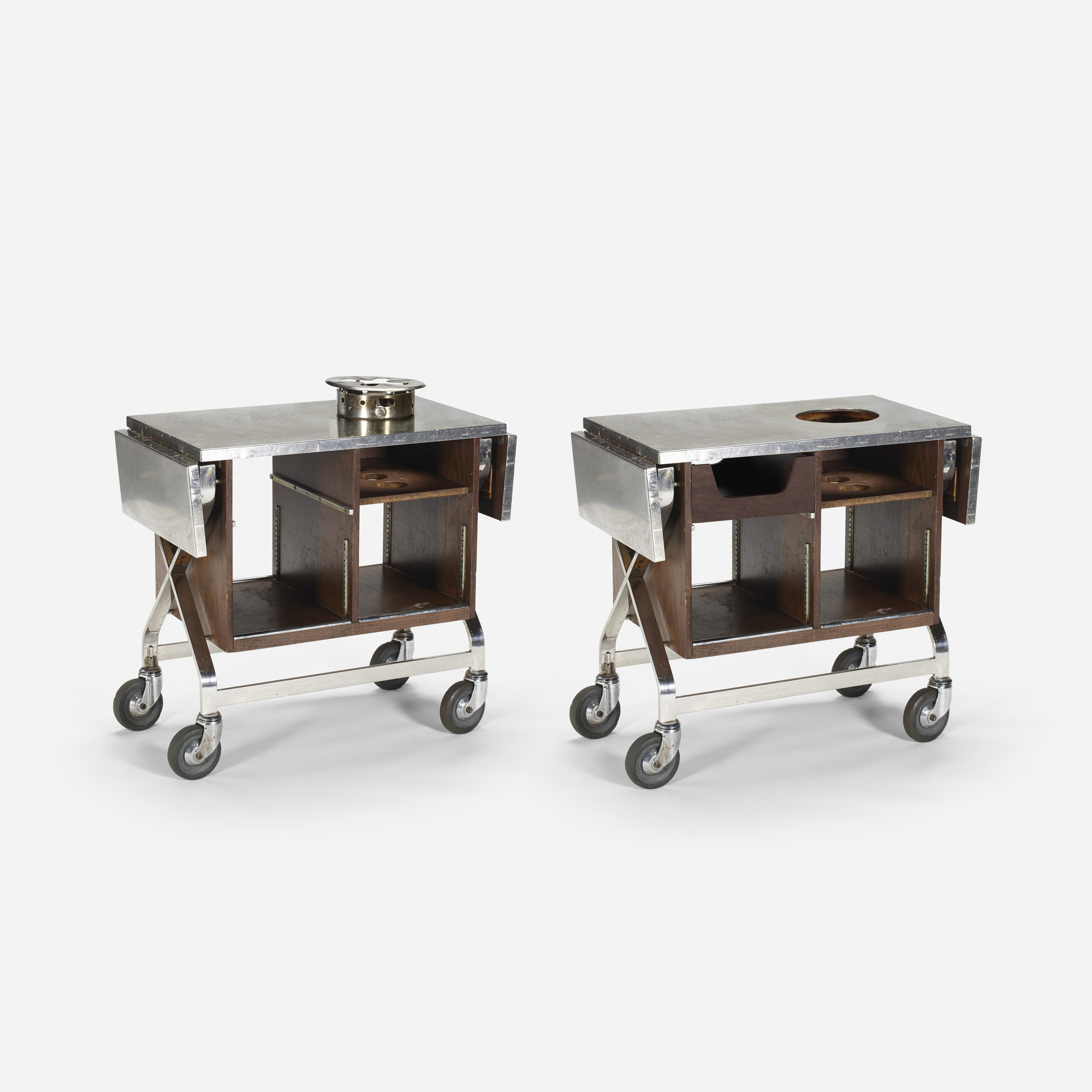 282: Garth and Ada Louise Huxtable / Serving carts from The Four Seasons, pair (1 of 1)