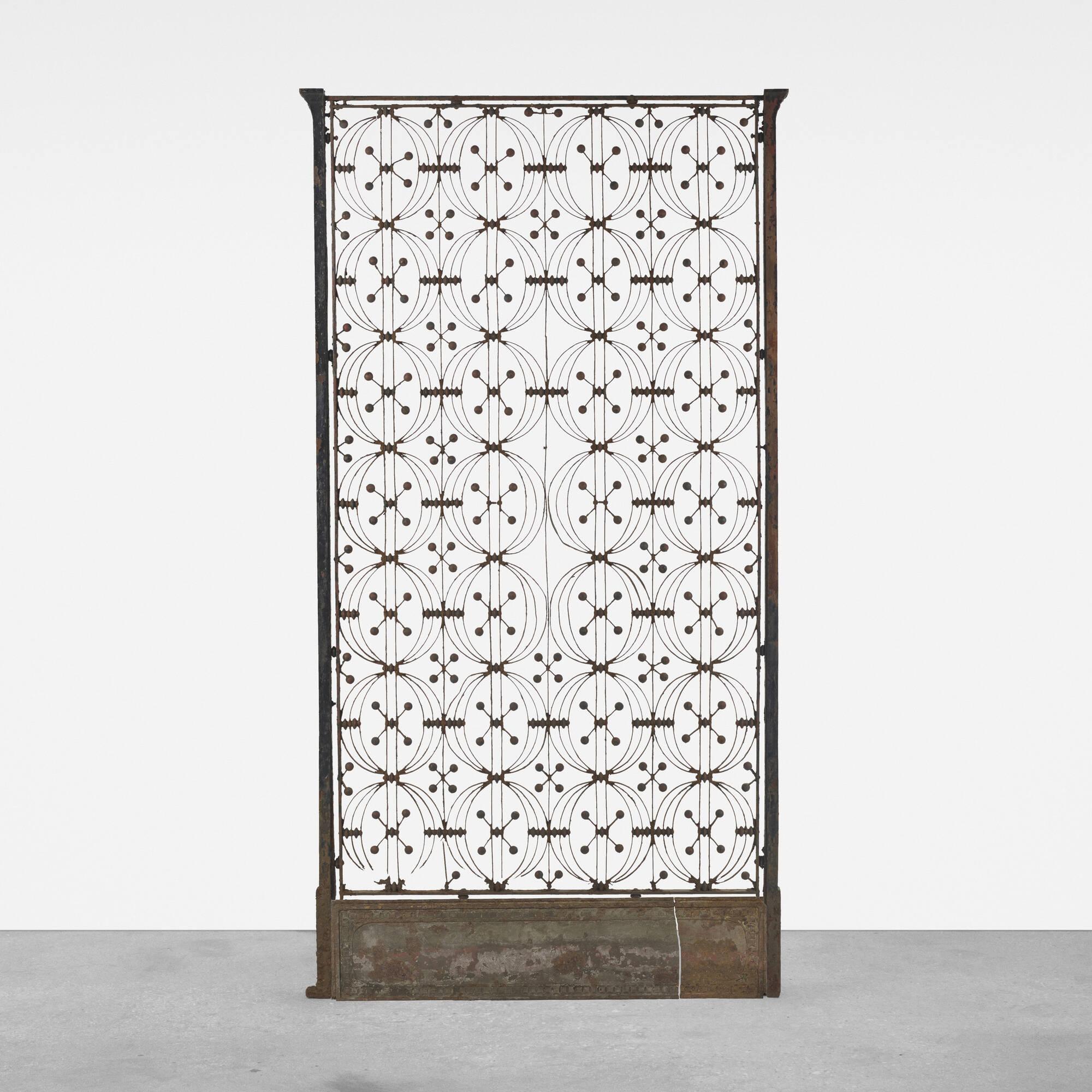 283: Dankmar Adler and Louis Sullivan / elevator door from the Chicago Stock Exchange (1 of 2)