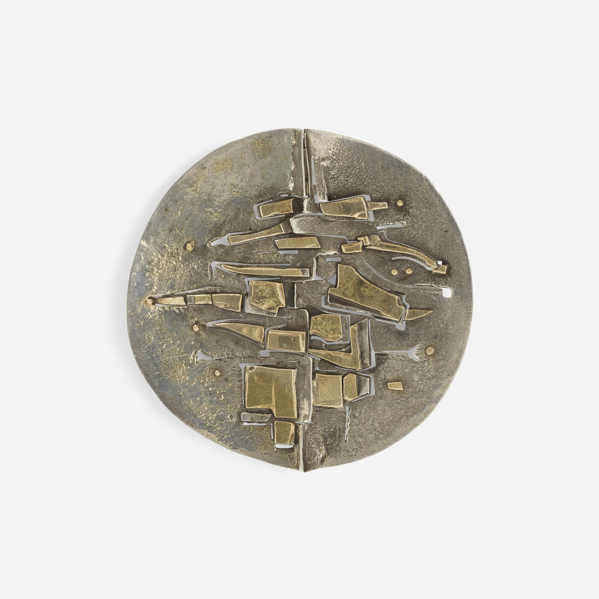 283: Karl Stittgen / A gold-plated brooch (1 of 1)