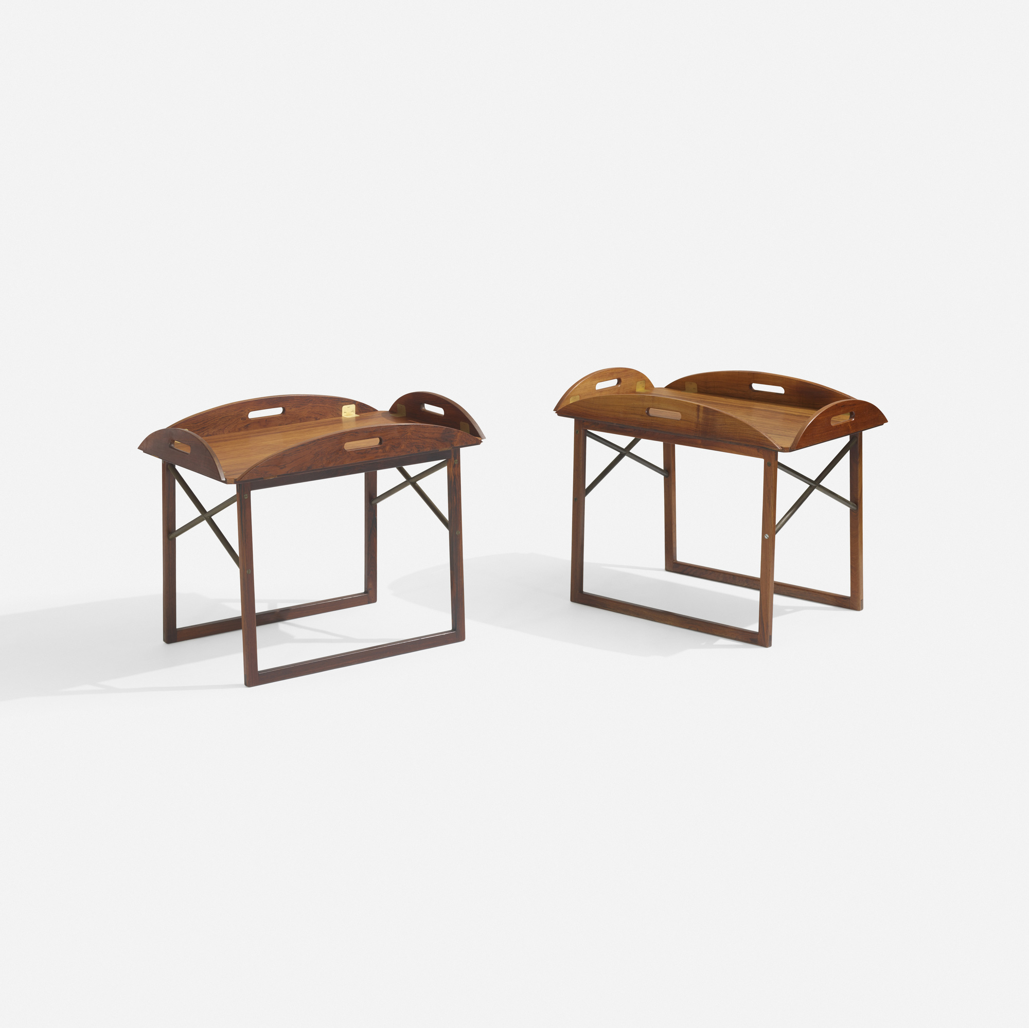 284: Svend Langkilde / tray tables, pair (1 of 2)
