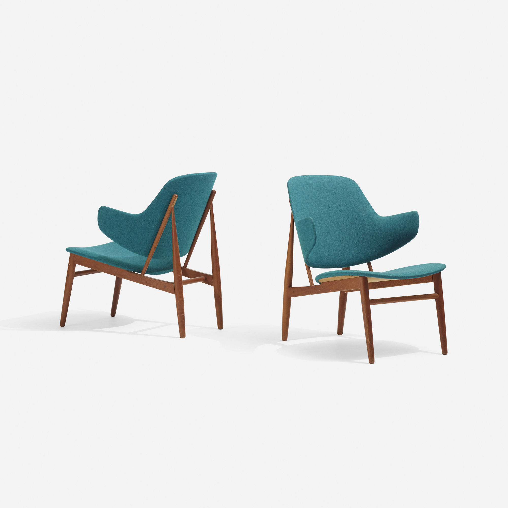 286: Ib Kofod-Larsen / lounge chairs, pair (1 of 3)