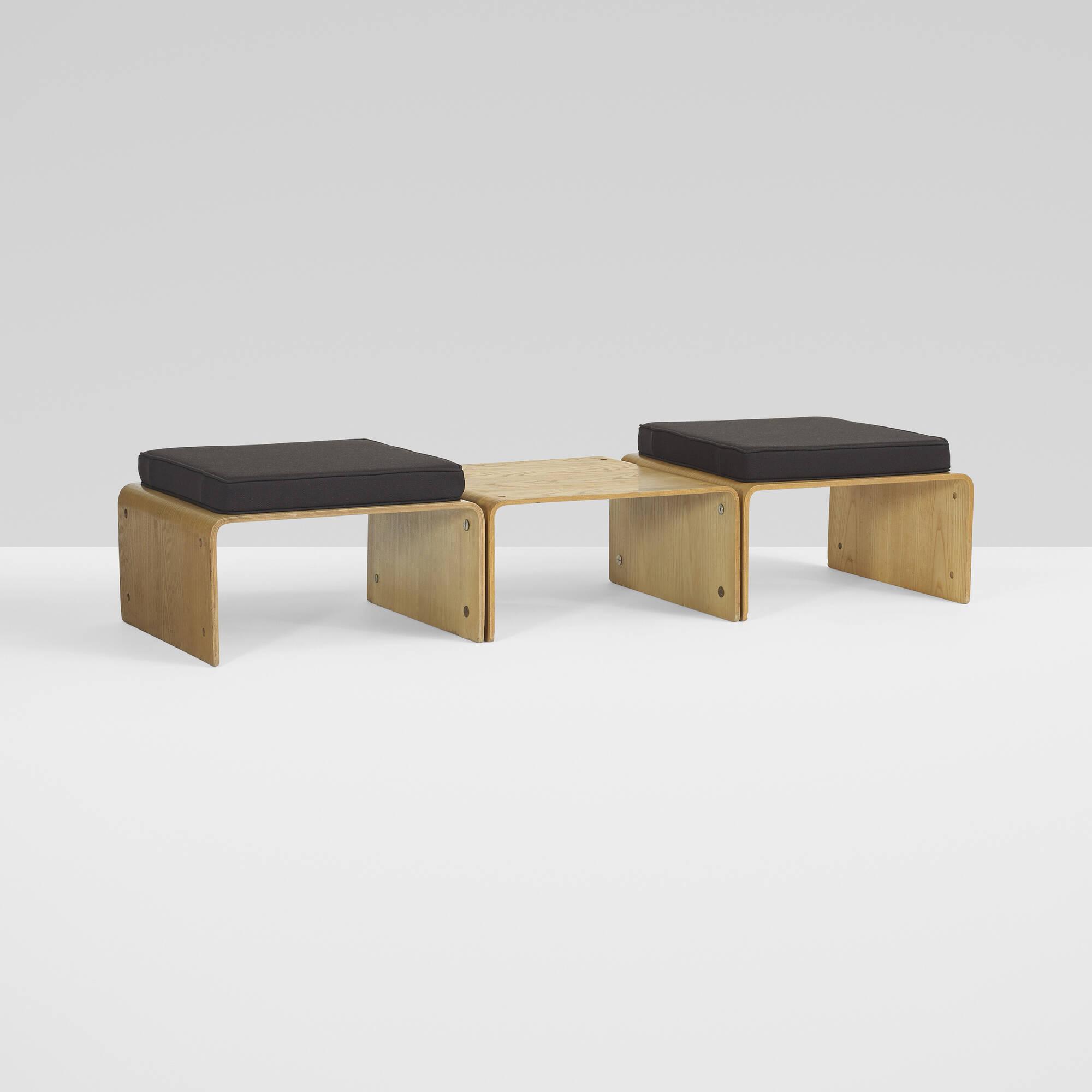 287: roger legrand / pan-u modular system bench < important design