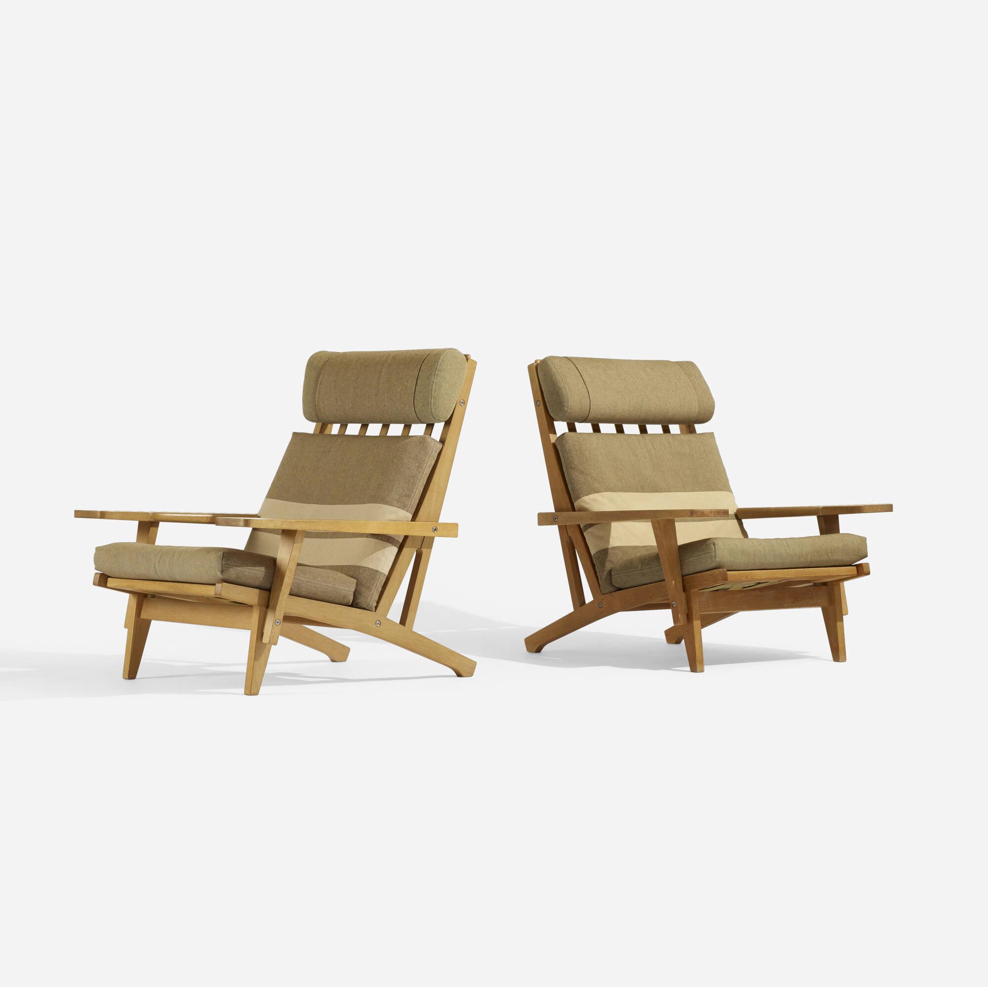 288: Hans J. Wegner / lounge chairs model GE375, pair (3 of 4)