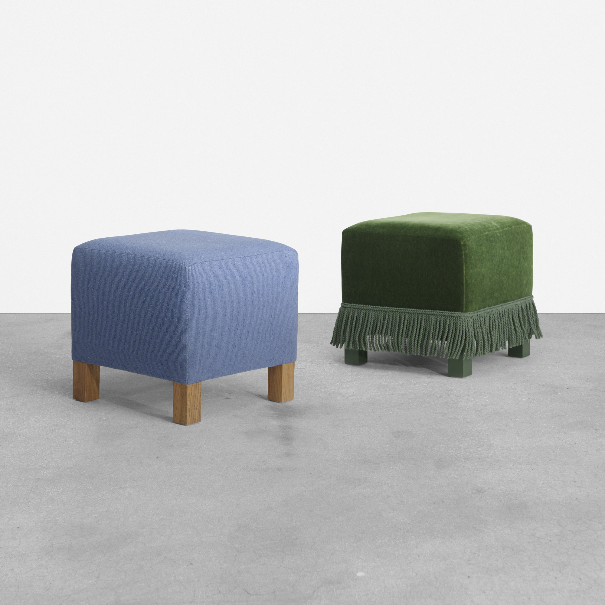 289: Roy McMakin / pair of ottomans for the Young residence, Chicago (1 of 2)