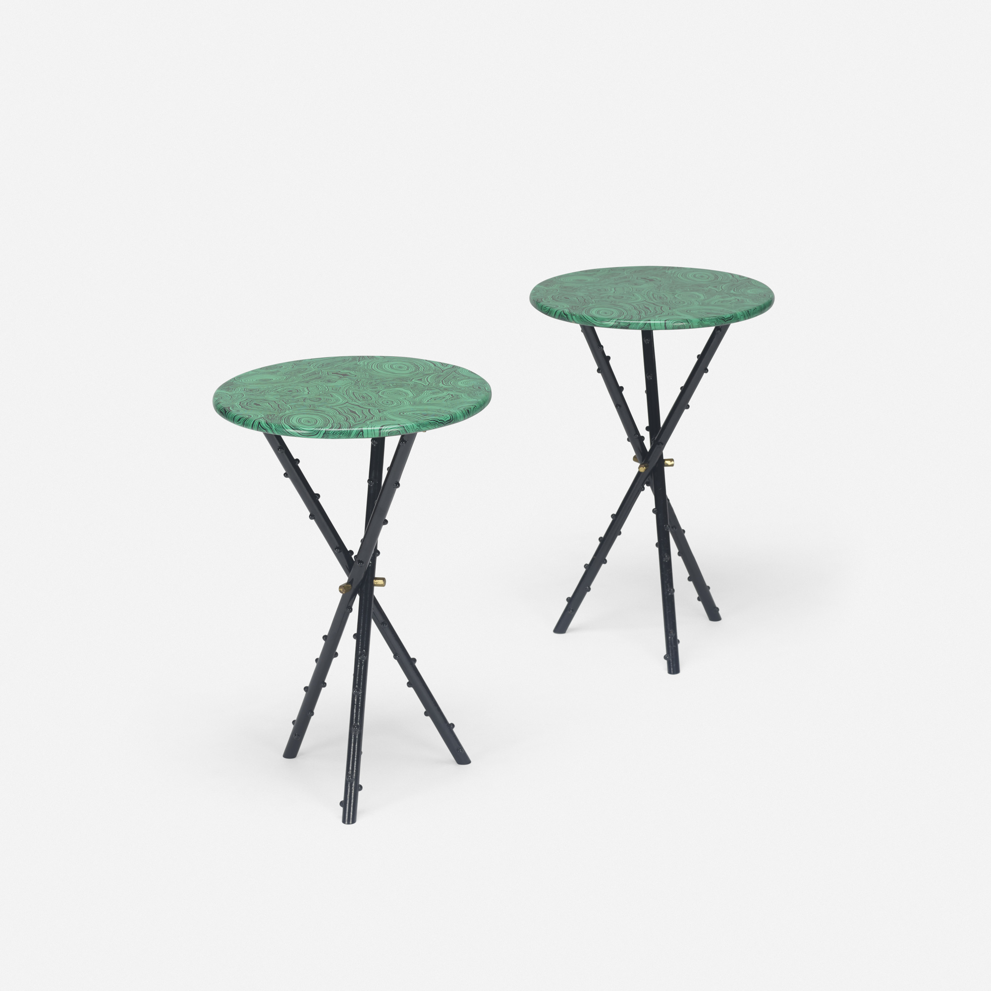 289: Piero Fornasetti / Malachite occasional tables, pair (1 of 3)