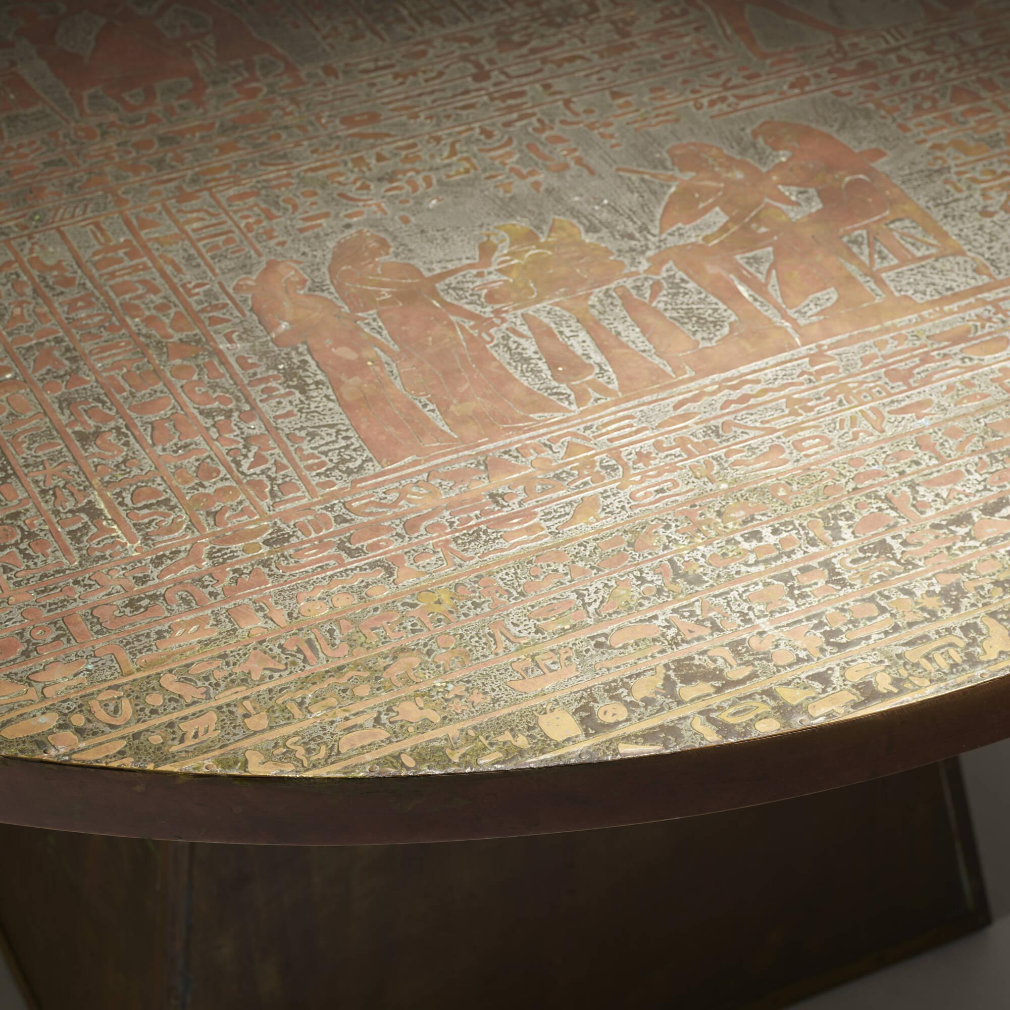 289: Philip and Kelvin LaVerne / rare Pharoah table (2 of 3)