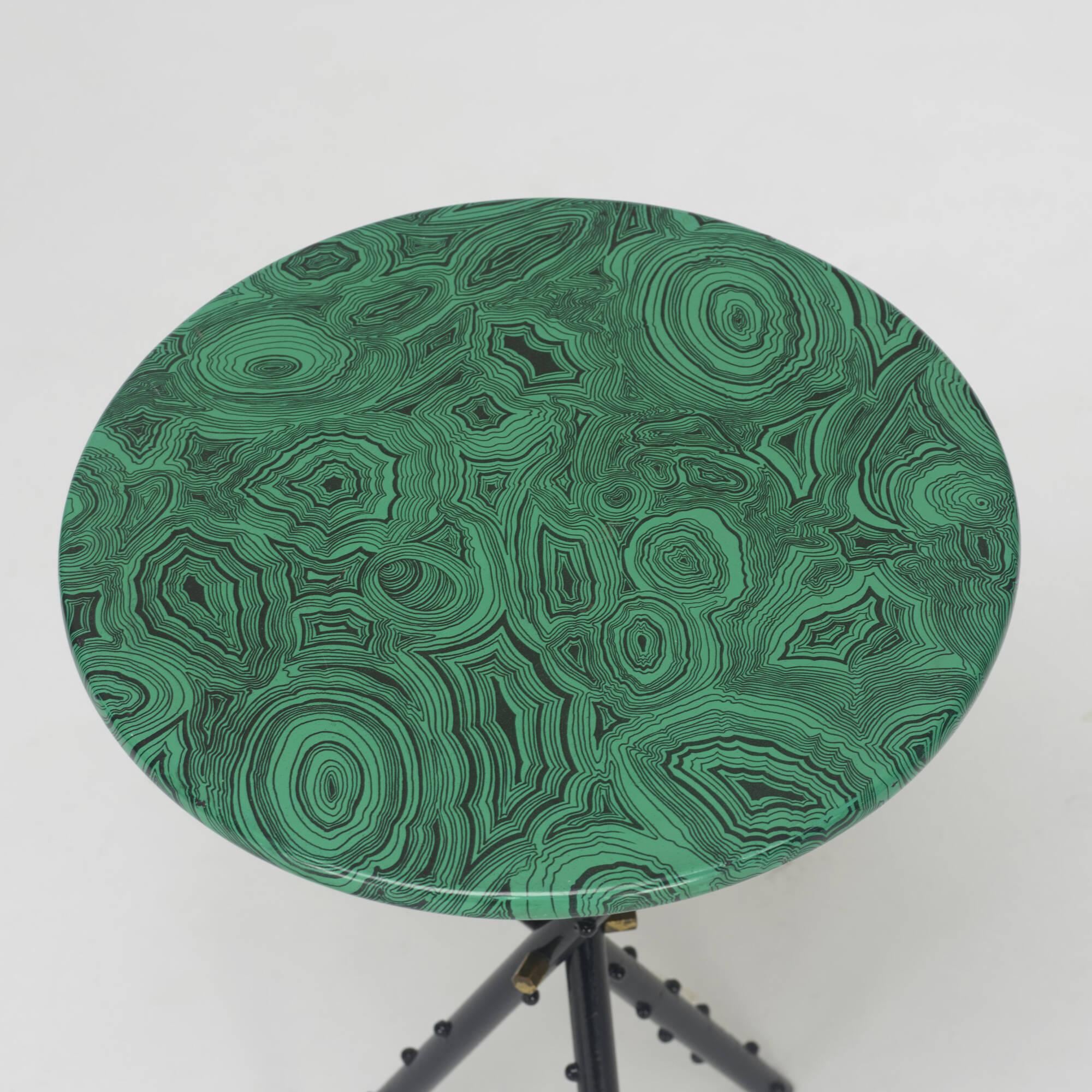 289: Piero Fornasetti / Malachite occasional tables, pair (2 of 3)