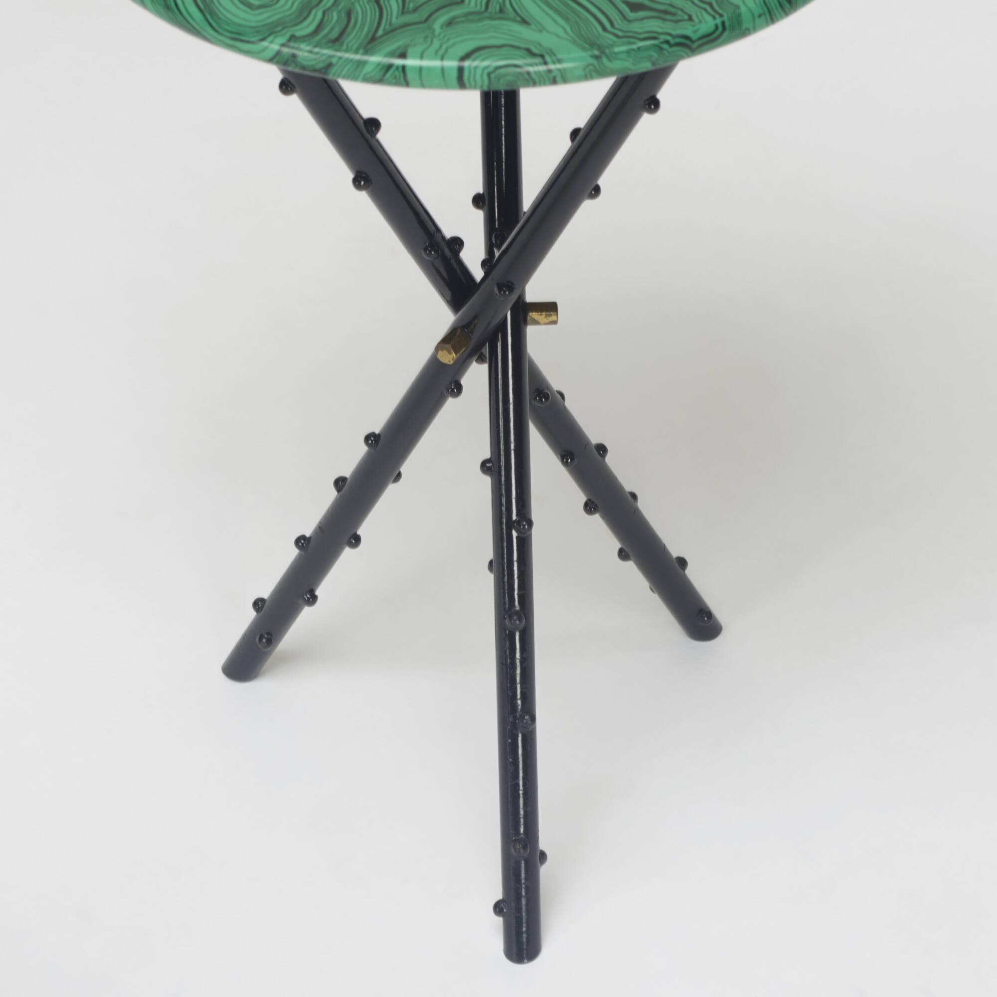 289: Piero Fornasetti / Malachite occasional tables, pair (3 of 3)