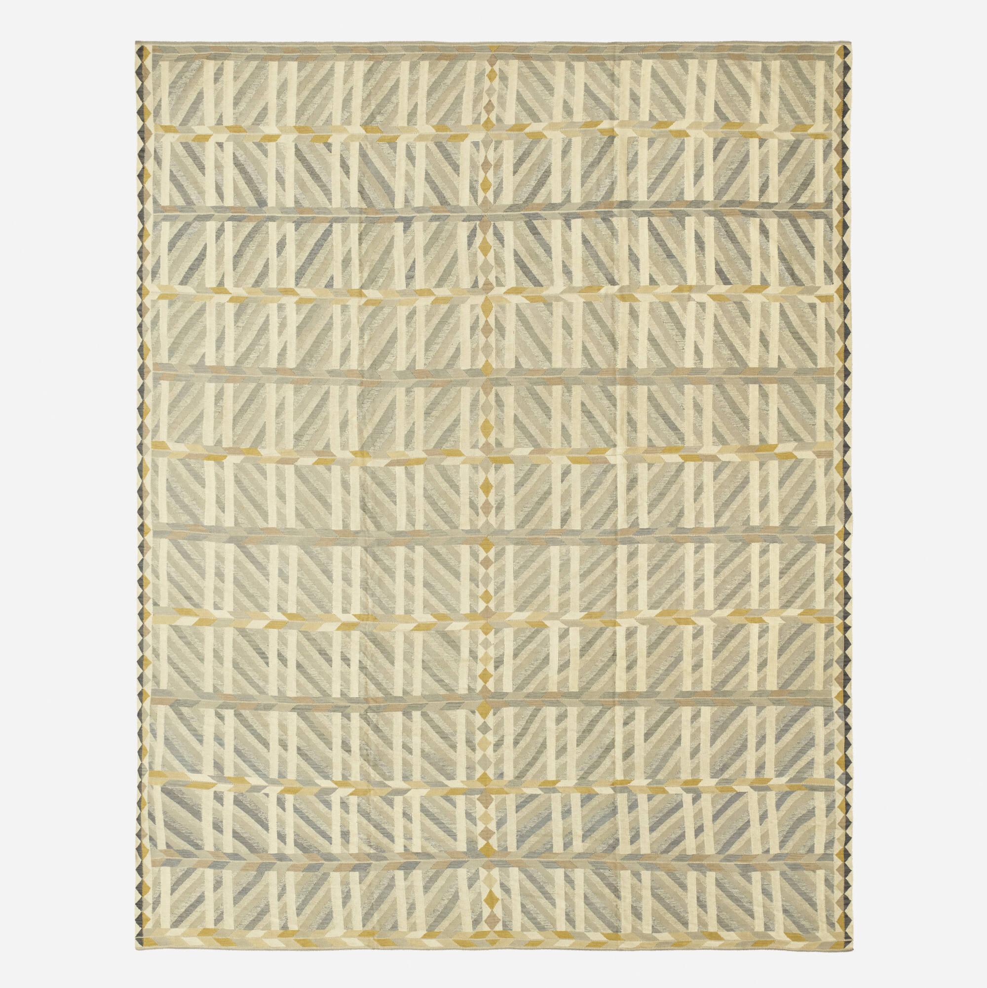 290: Swedish / contemporary flatweave carpet (1 of 2)