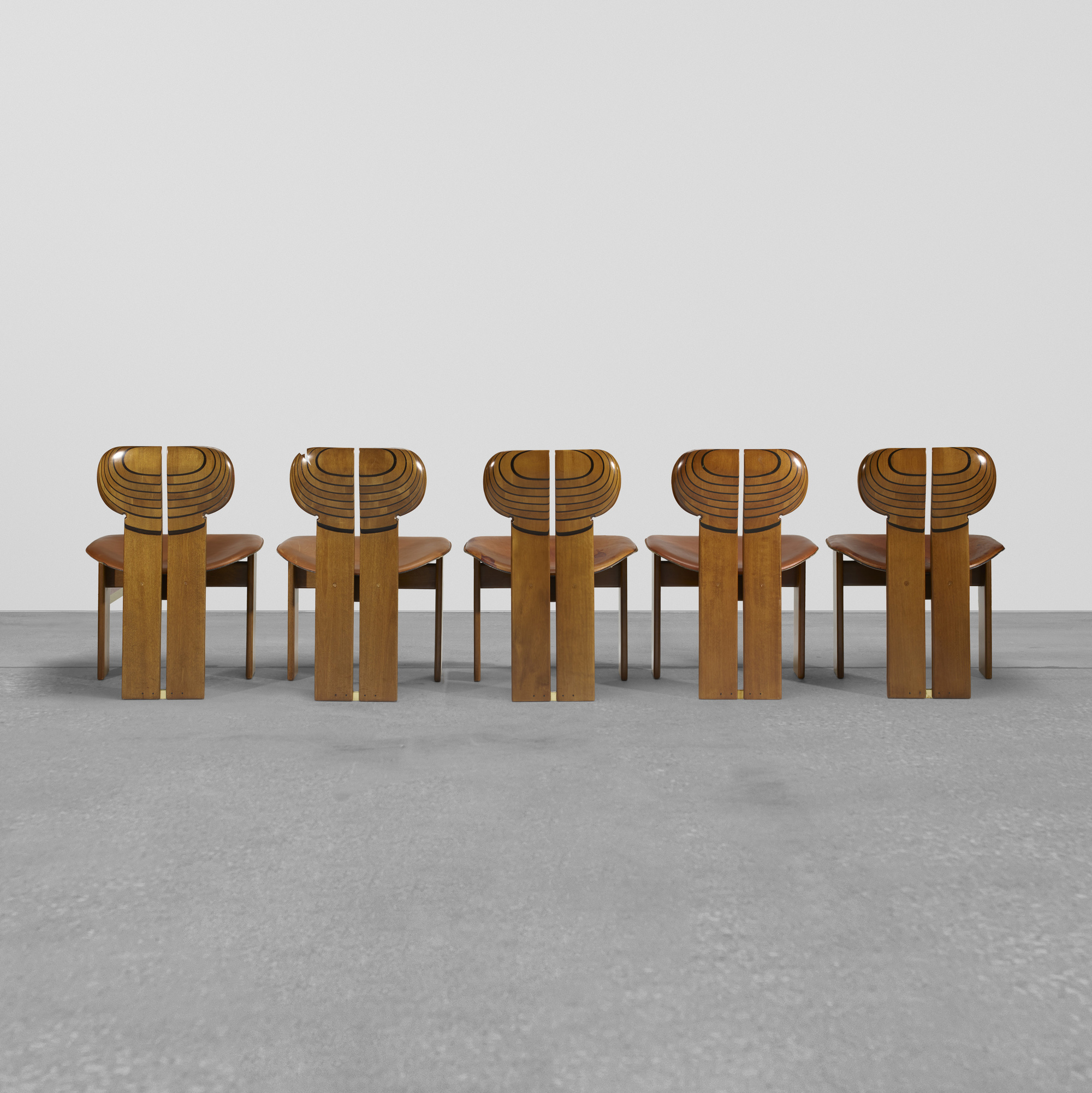 290: Afra and Tobia Scarpa / set of ten Africa chairs from the Artona series (2 of 3)