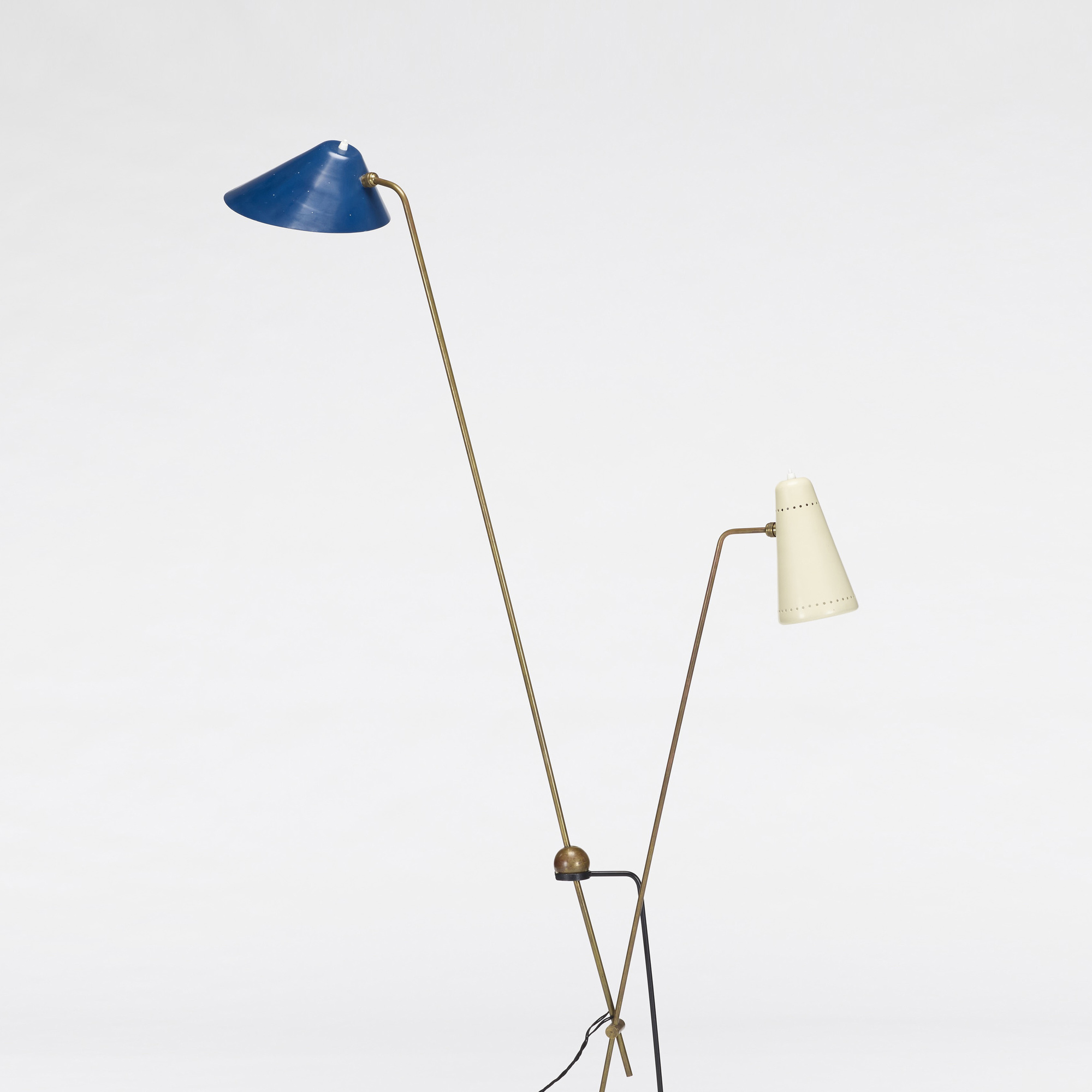 ... 290: Pierre Guariche, Attribution / Equilibrium Double Branch Floor Lamp  (2 Of