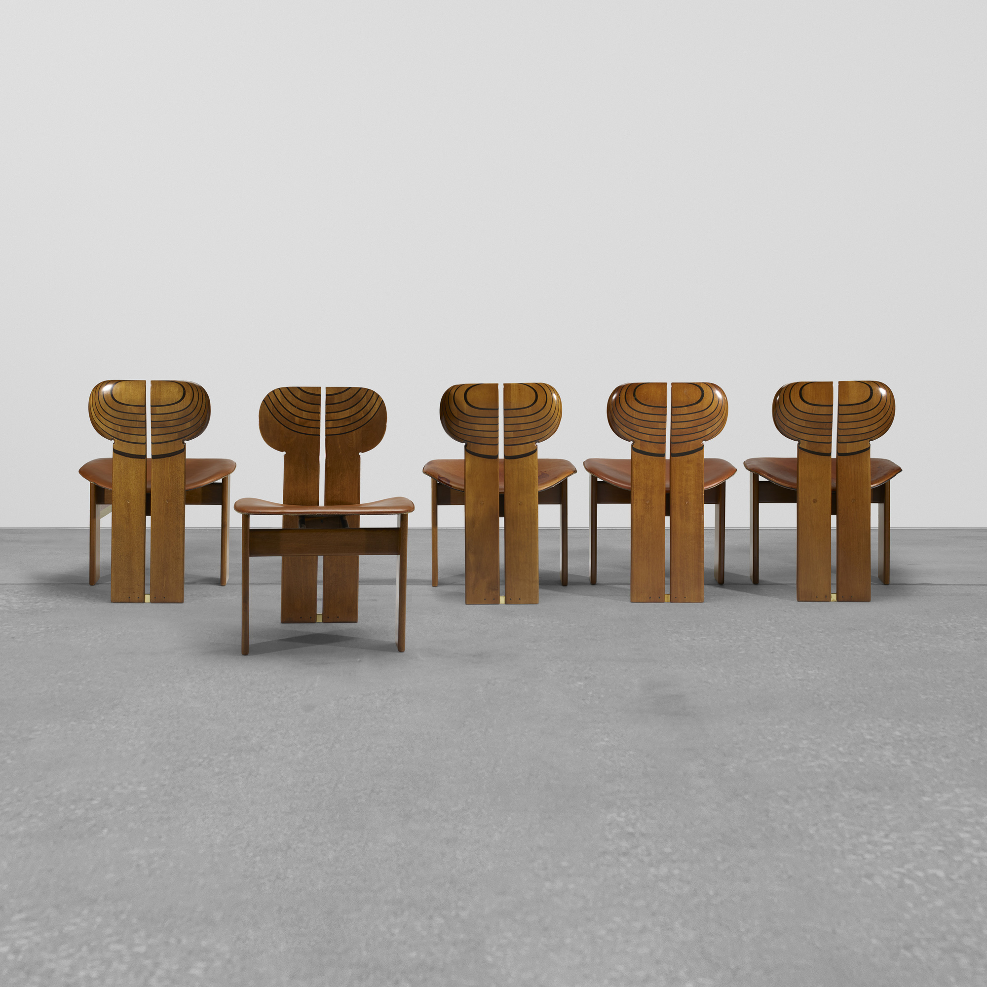 290: Afra and Tobia Scarpa / set of ten Africa chairs from the Artona series (3 of 3)