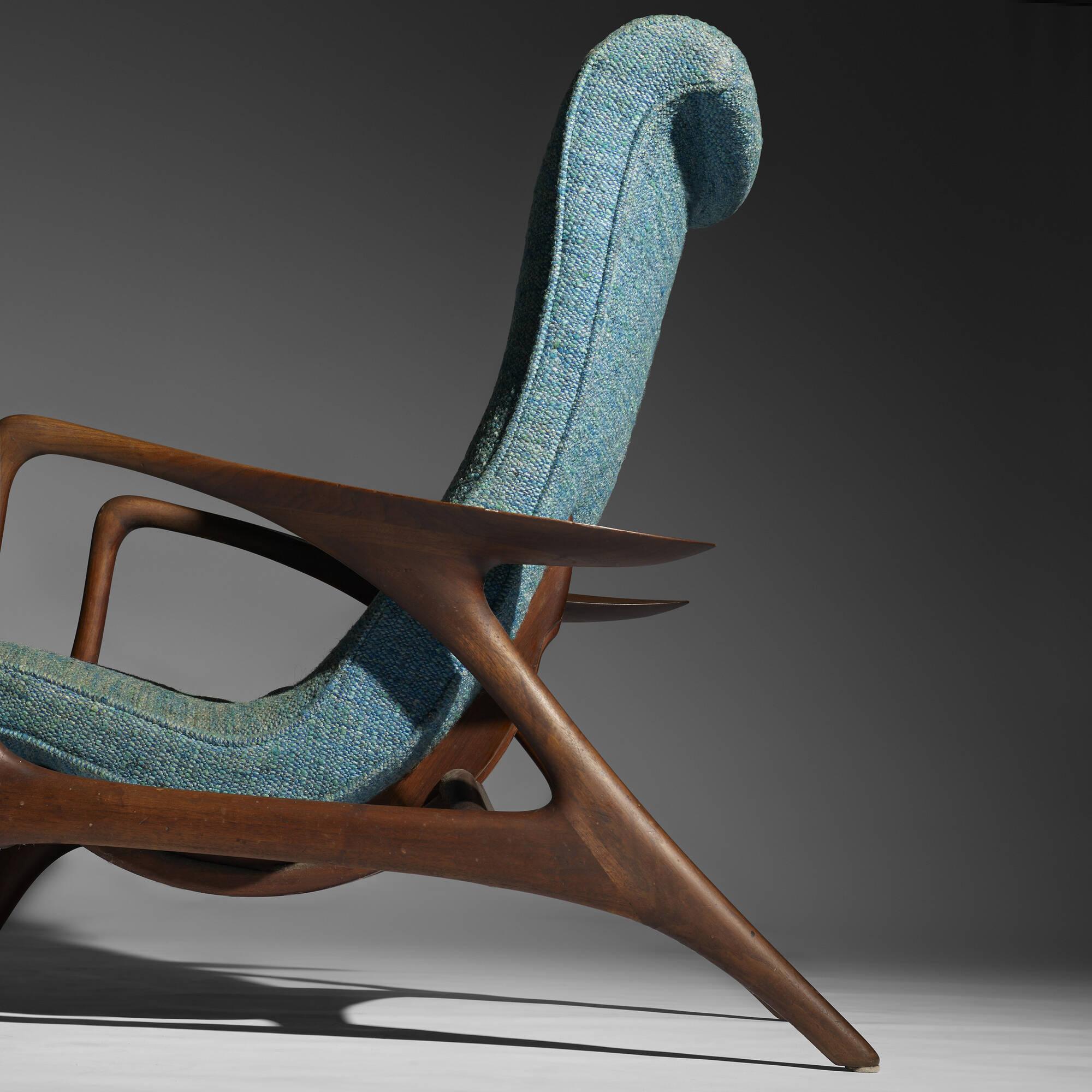 ... 290: Vladimir Kagan / Contour Lounge Chair And Ottoman (3 Of 4)