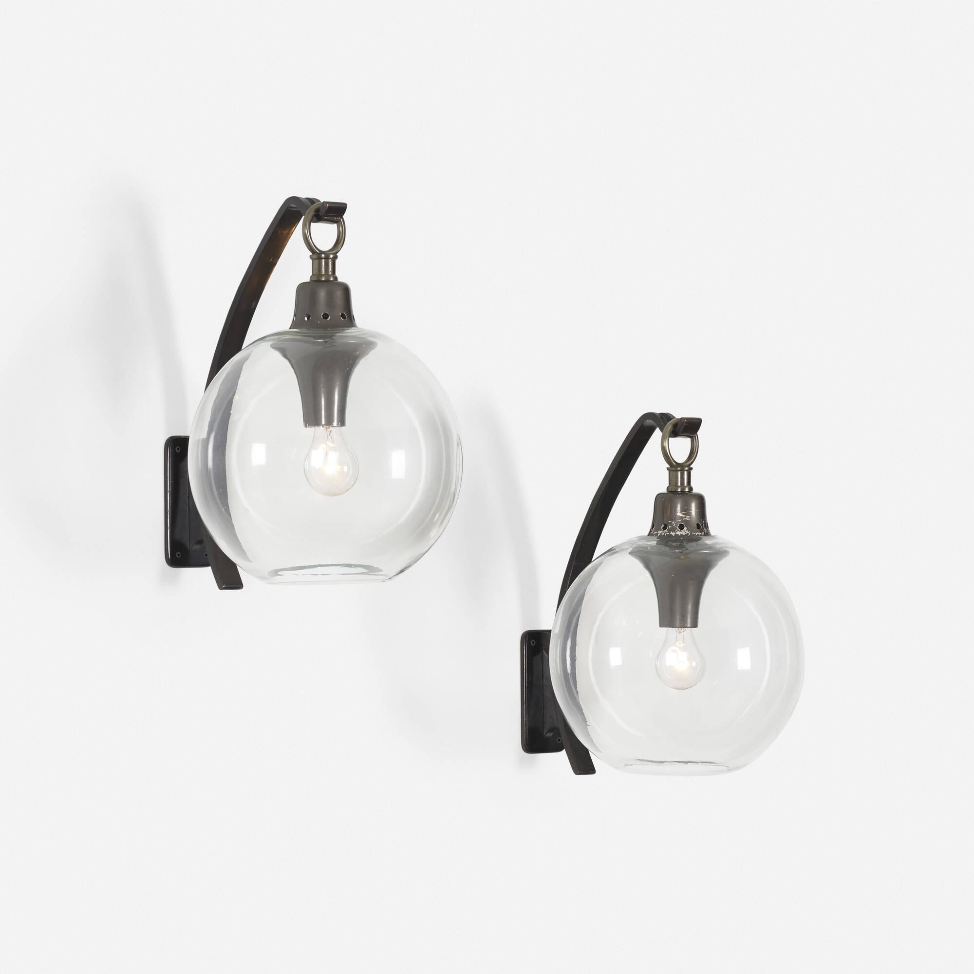 291: Luigi Caccia Dominioni / Boccia wall lamps, pair (1 of 1)