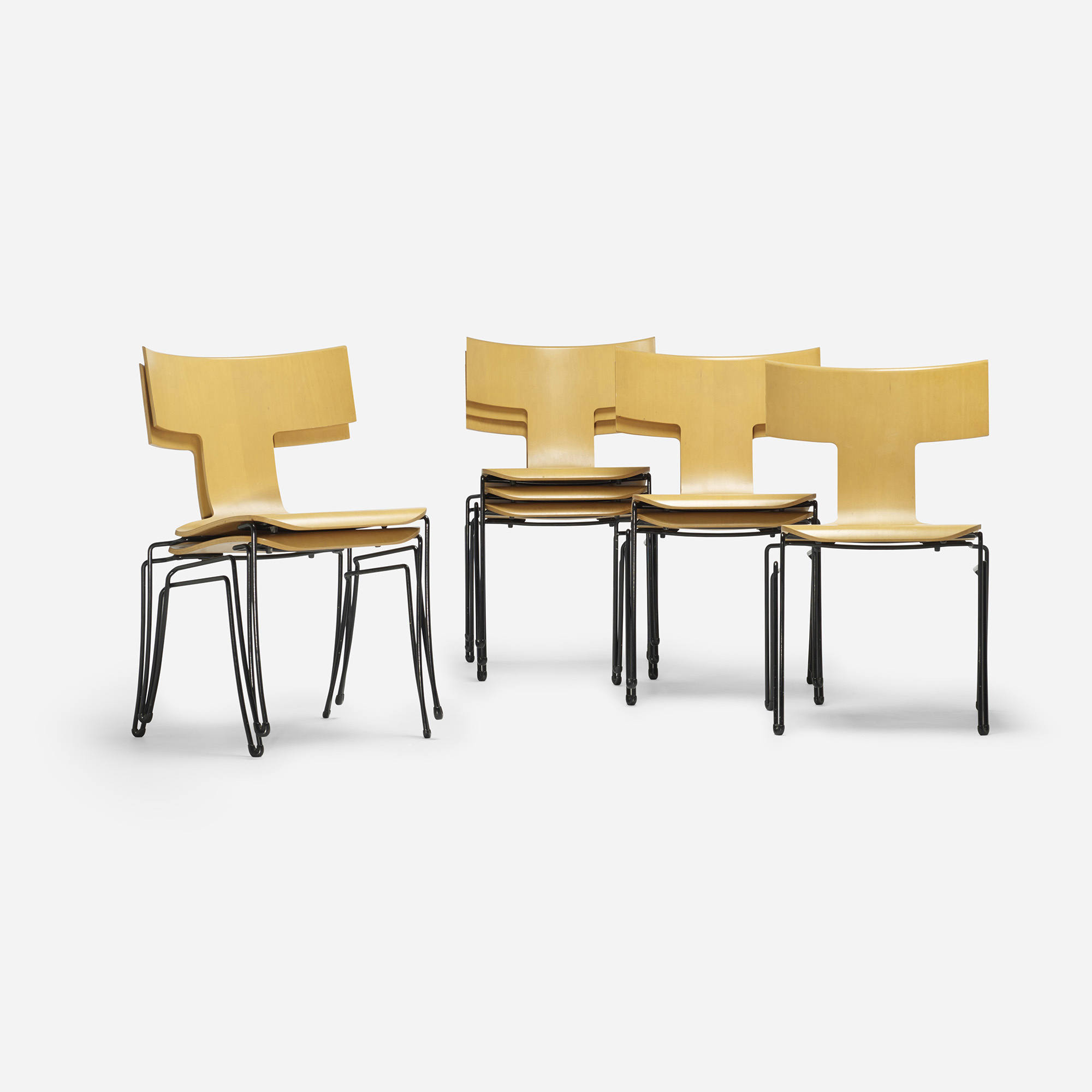 Charmant ... 291: John Hutton / Anziano Chairs, Set Of Eight (2 Of 4)