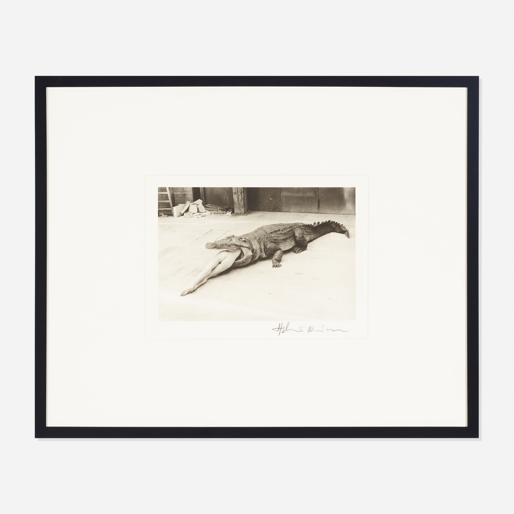 292: Helmut Newton / Crocodile Eating Ballerina (1 of 3)