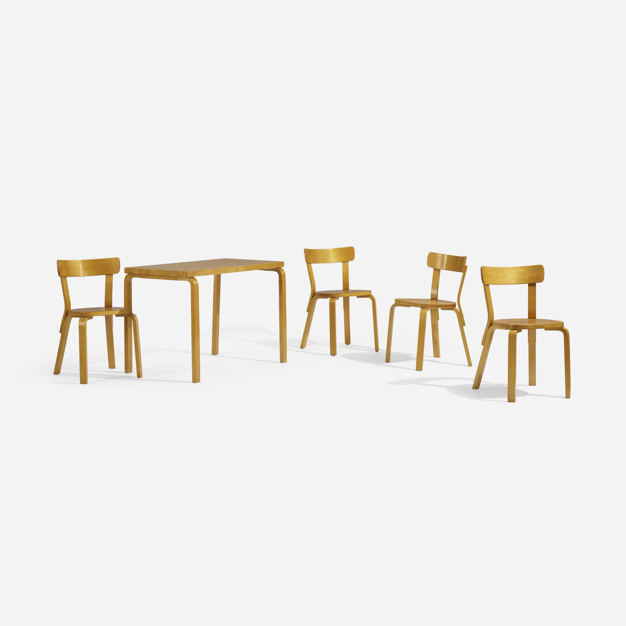292: Alvar Aalto / L-Leg dining set (1 of 4)