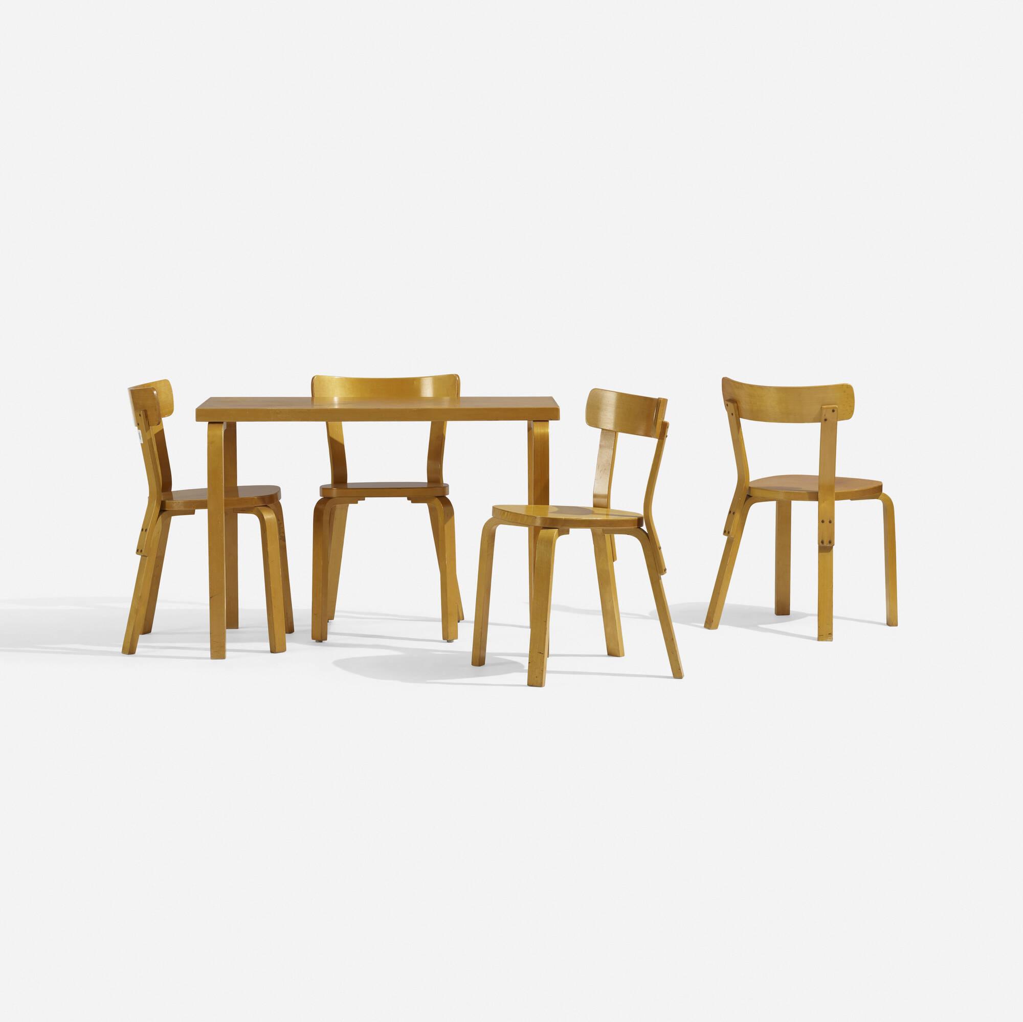 292: Alvar Aalto / L-Leg dining set (2 of 4)
