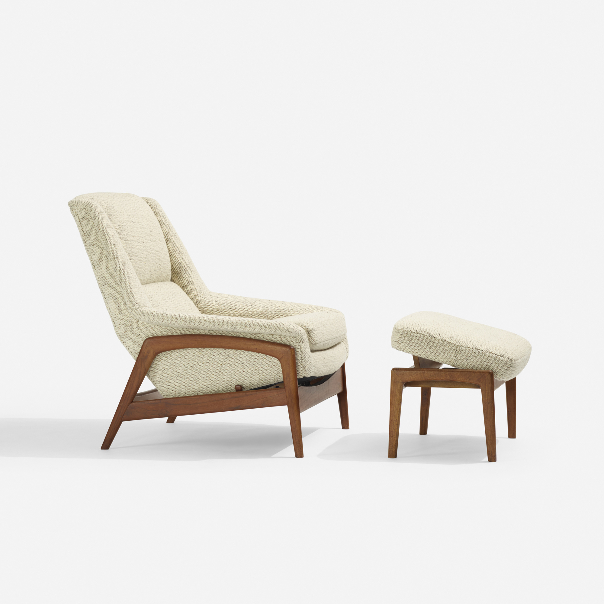 293: Folke Ohlsson / lounge chair and ottoman (1 of 2)