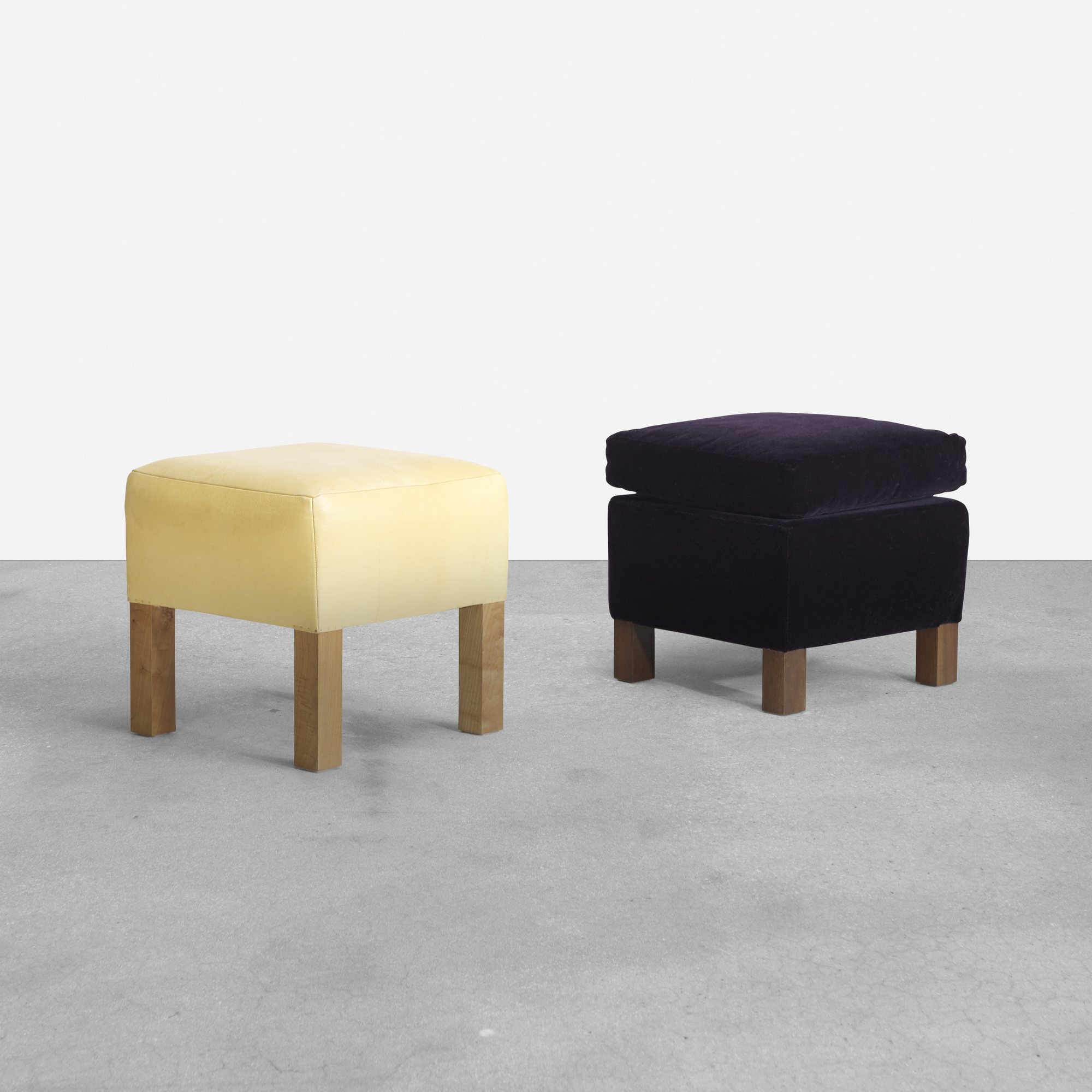 294: Roy McMakin / pair of ottomans for the Young residence, Chicago (1 of 2)