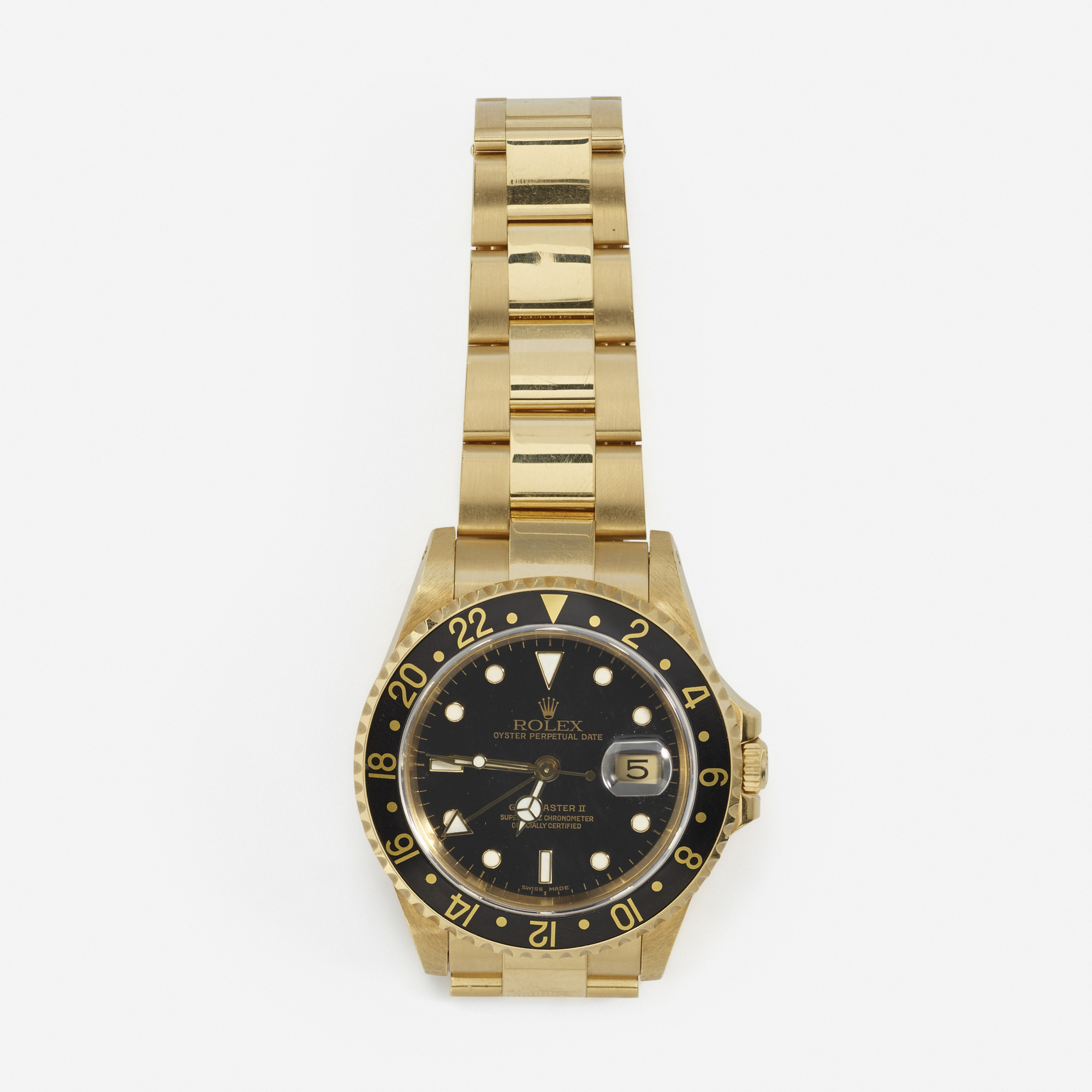 294: Rolex / A gold GMT Master II watch (1 of 1)
